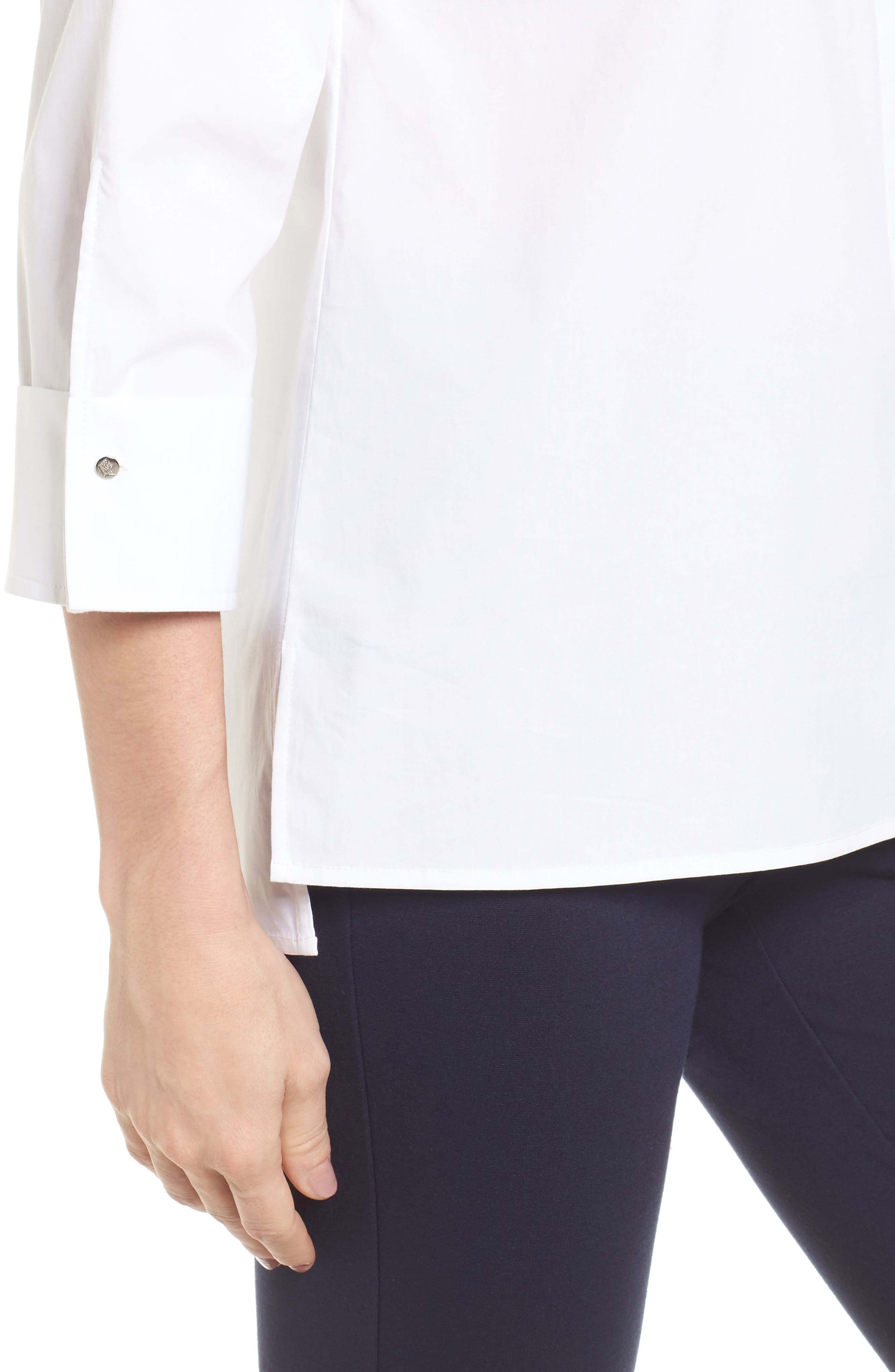 Poplin Blouse,                             Alternate thumbnail 4, color,                             145-Ultra White