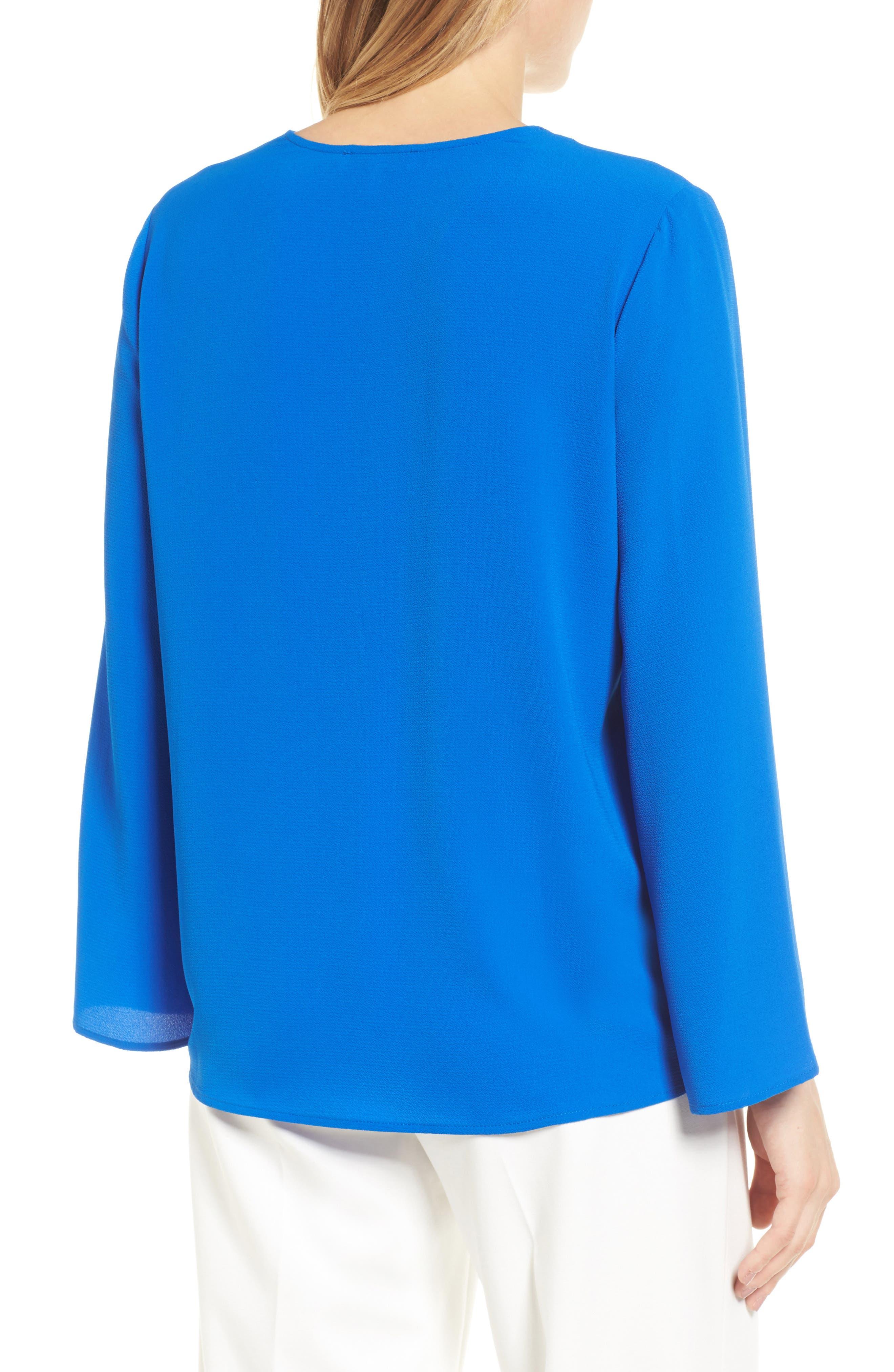 Alternate Image 2  - Chaus Slit Sleeve Blouse