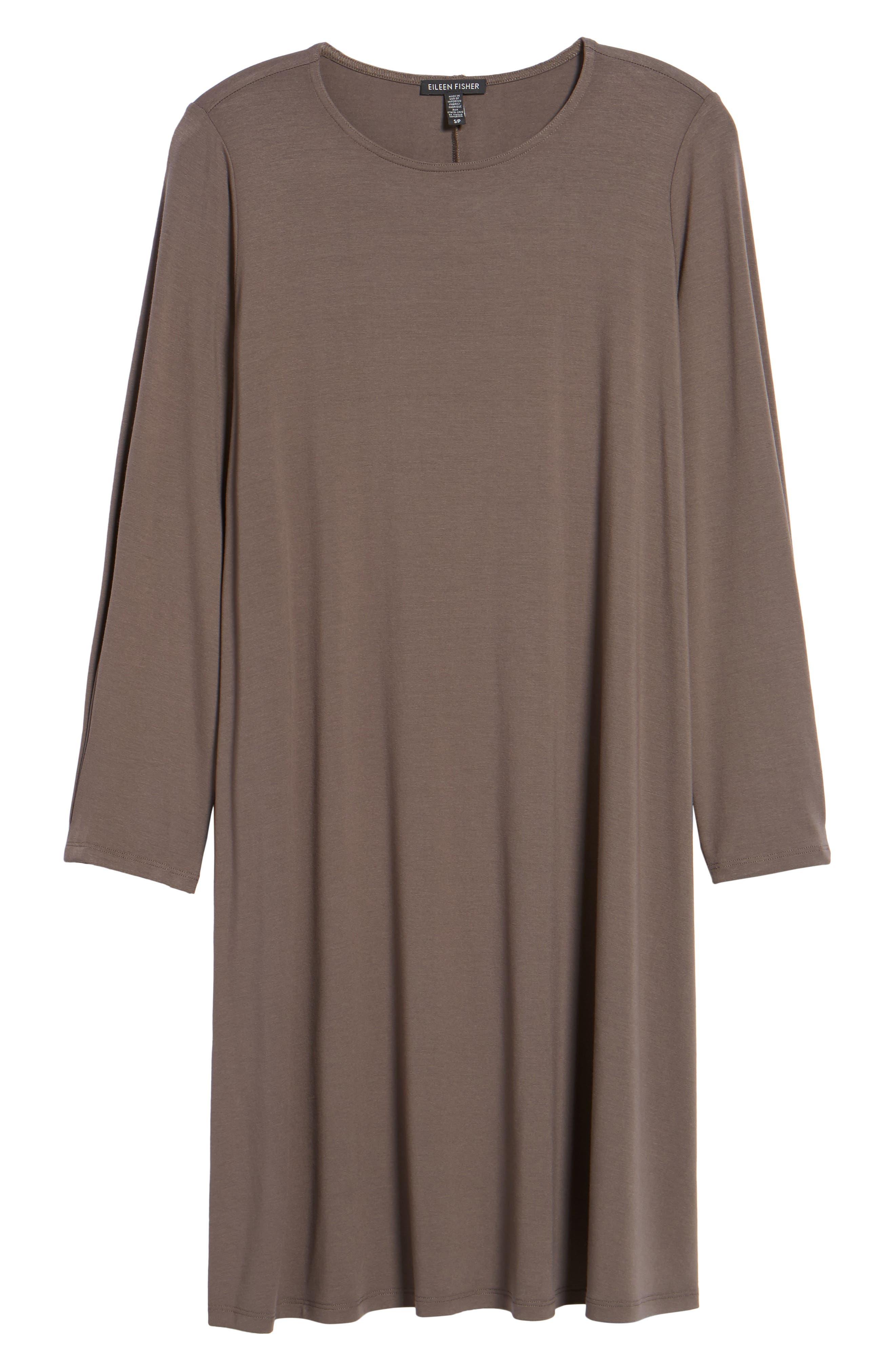 Jersey Shift Dress,                             Alternate thumbnail 6, color,                             Rye
