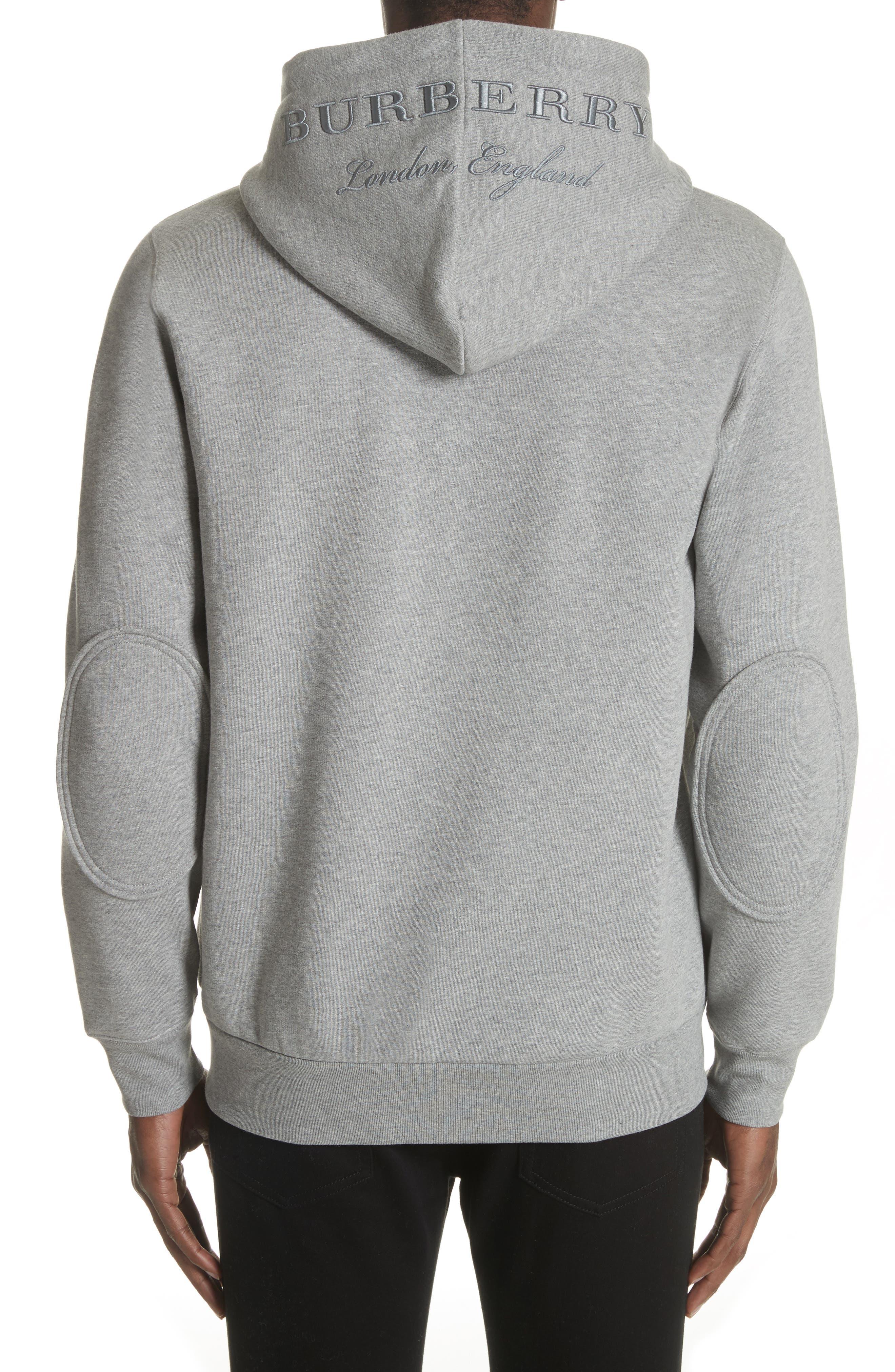 Alternate Image 2  - Burberry Kenton Regular Fit Full Zip Fleece Hoodie