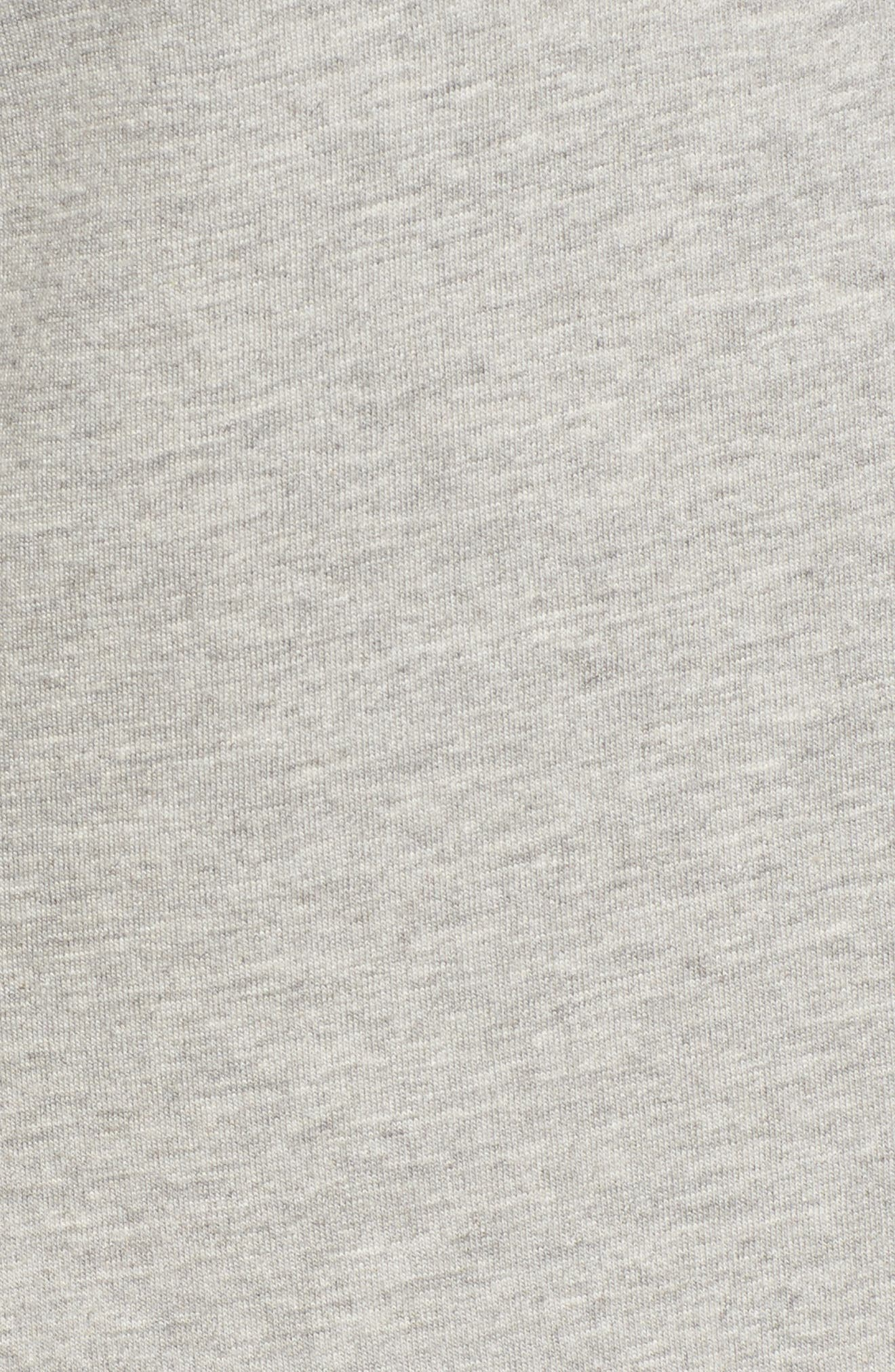 Hooded Knit Anorak,                             Alternate thumbnail 5, color,                             Light Grey