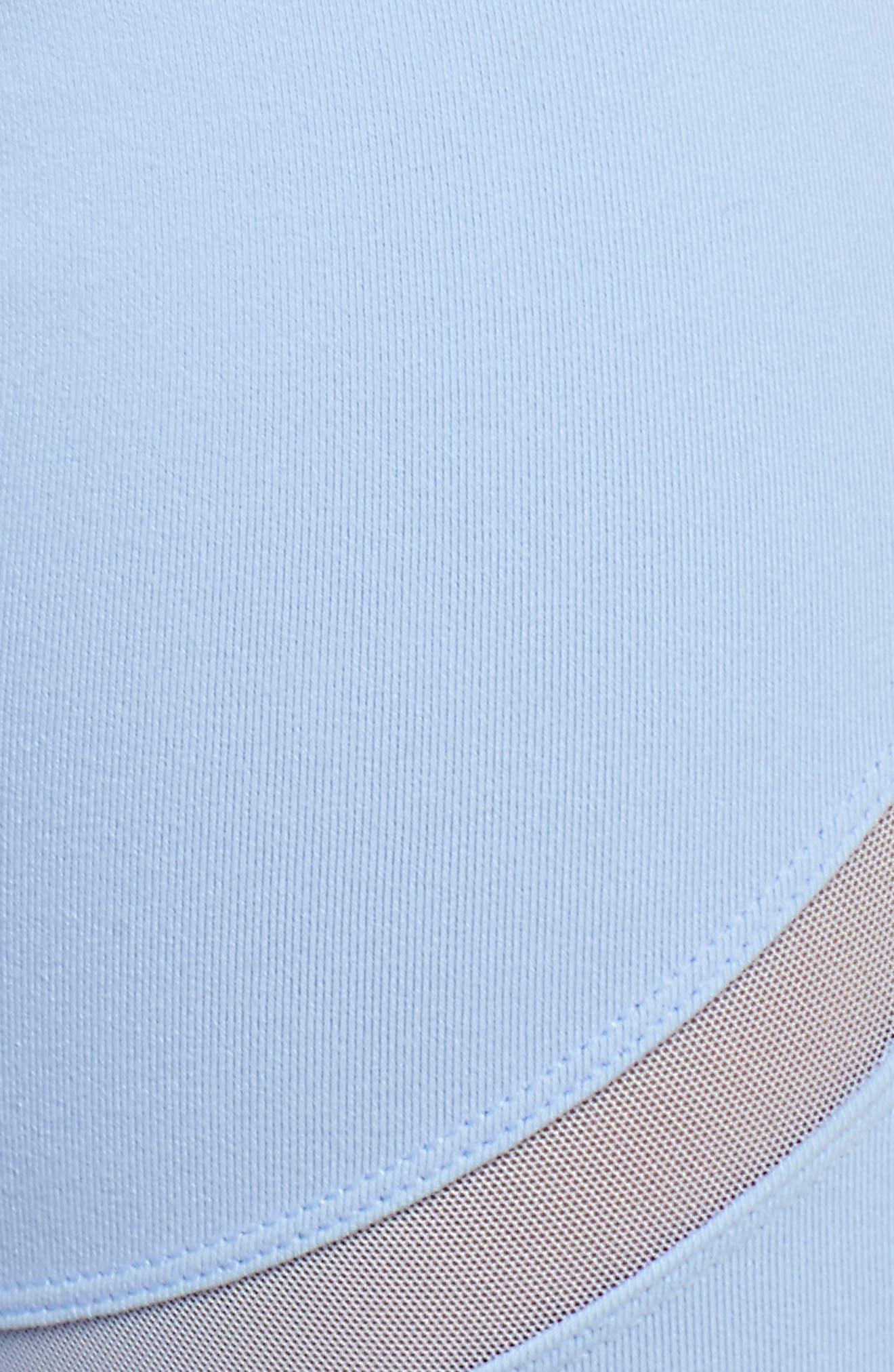 Laced High Waist Capri Leggings,                             Alternate thumbnail 6, color,                             Uv Blue
