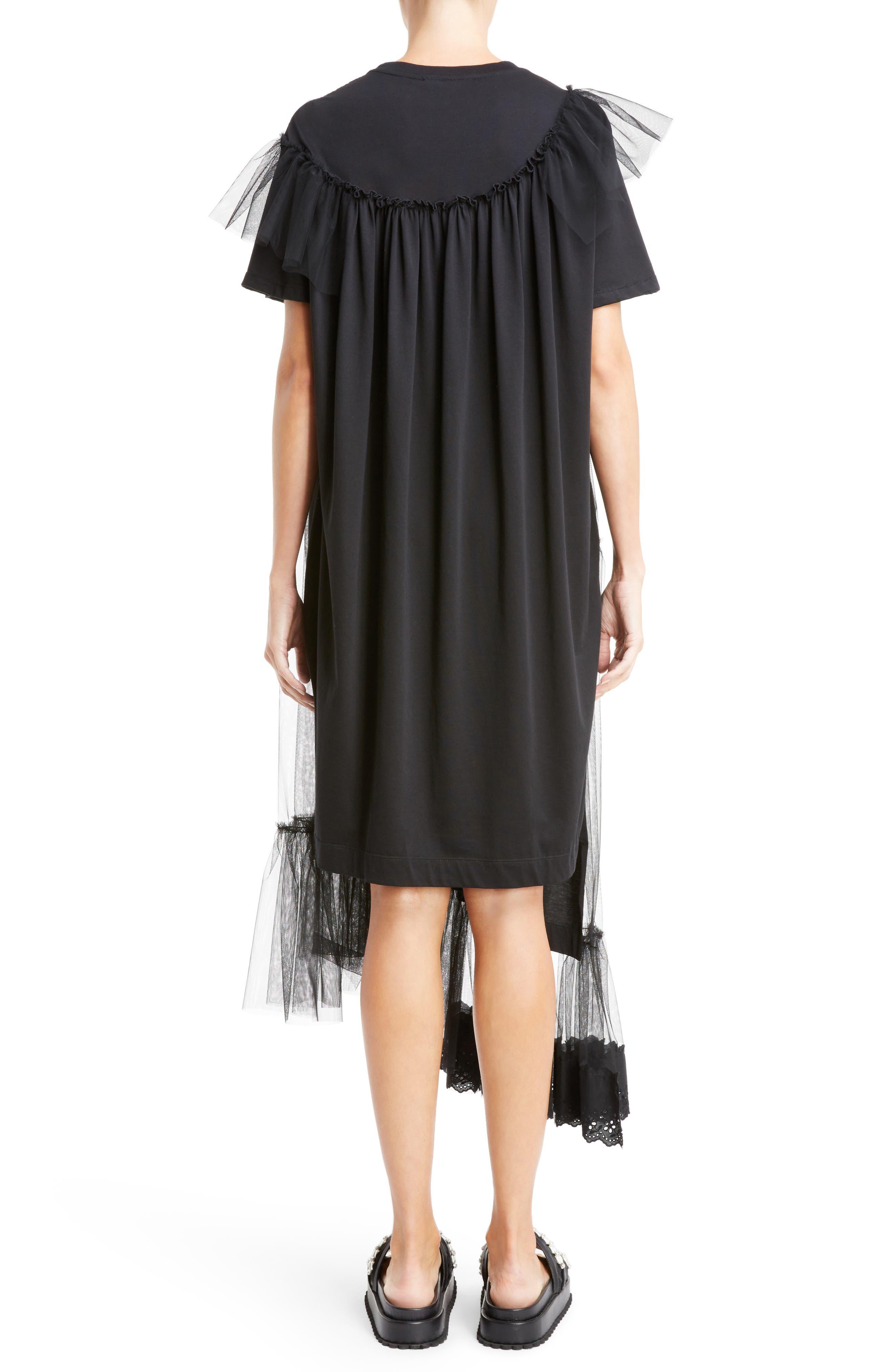 Alternate Image 2  - Simone Rocha Long Jersey & Tulle T-Shirt Dress