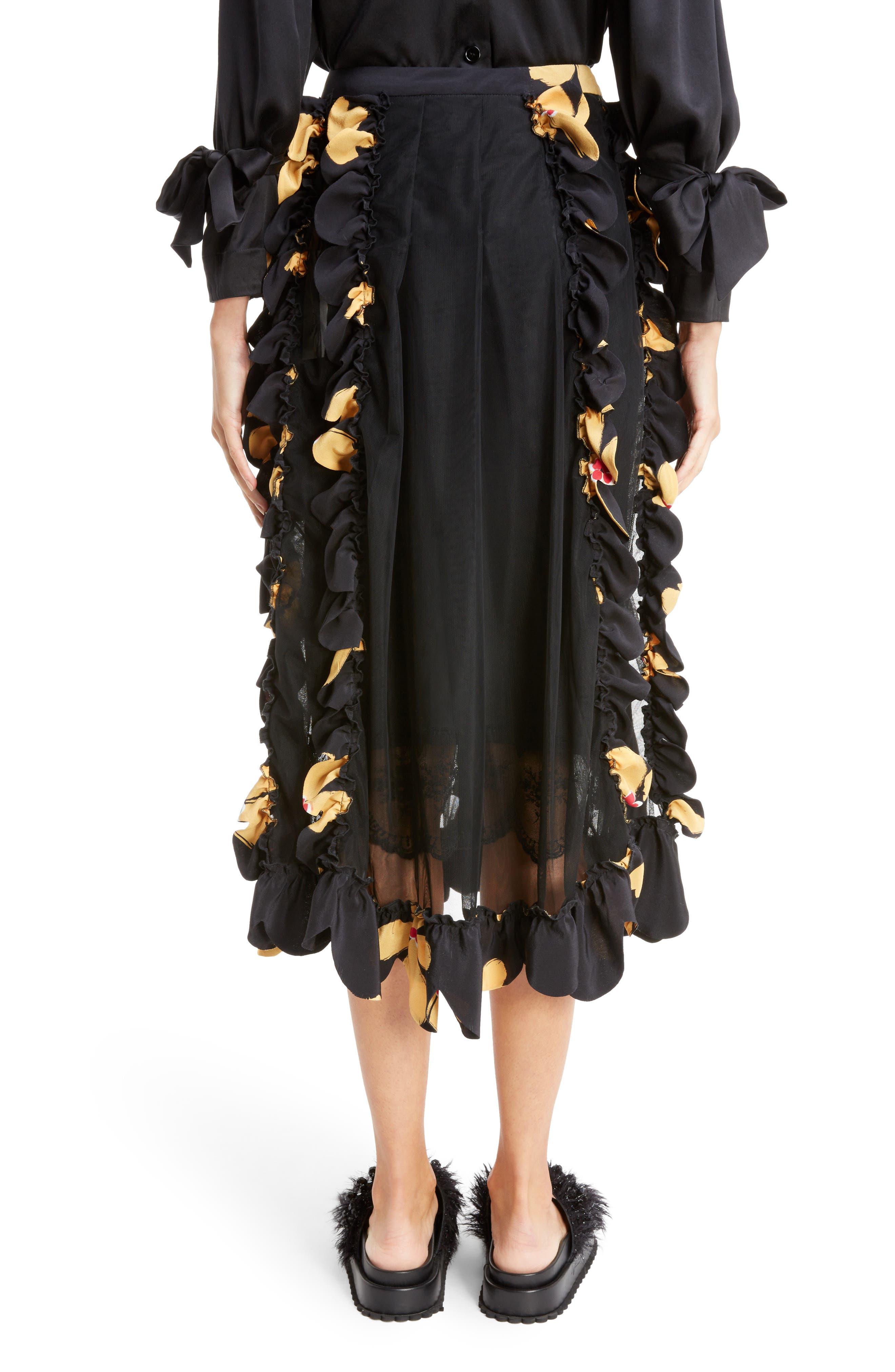 Alternate Image 2  - Simone Rocha Turbo Pleat Floral Silk Wrap Skirt