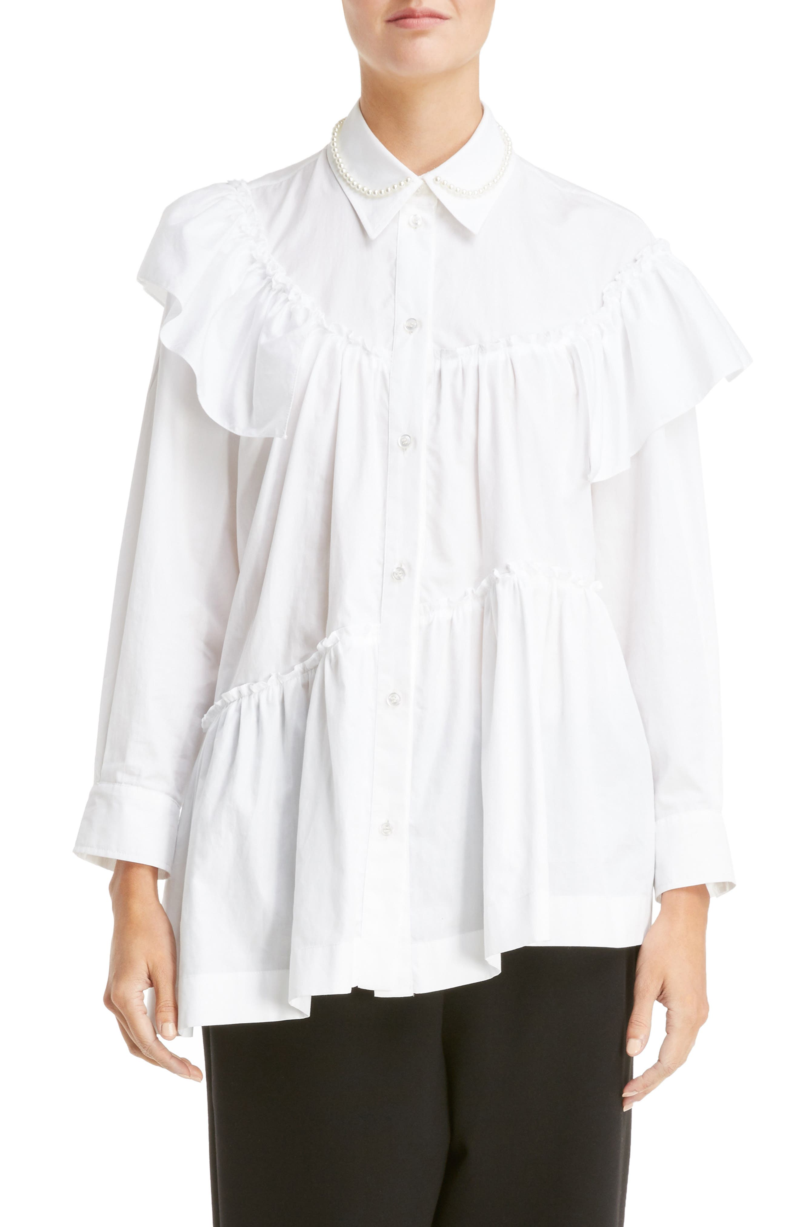Simone Rocha Beaded Frill Shirt