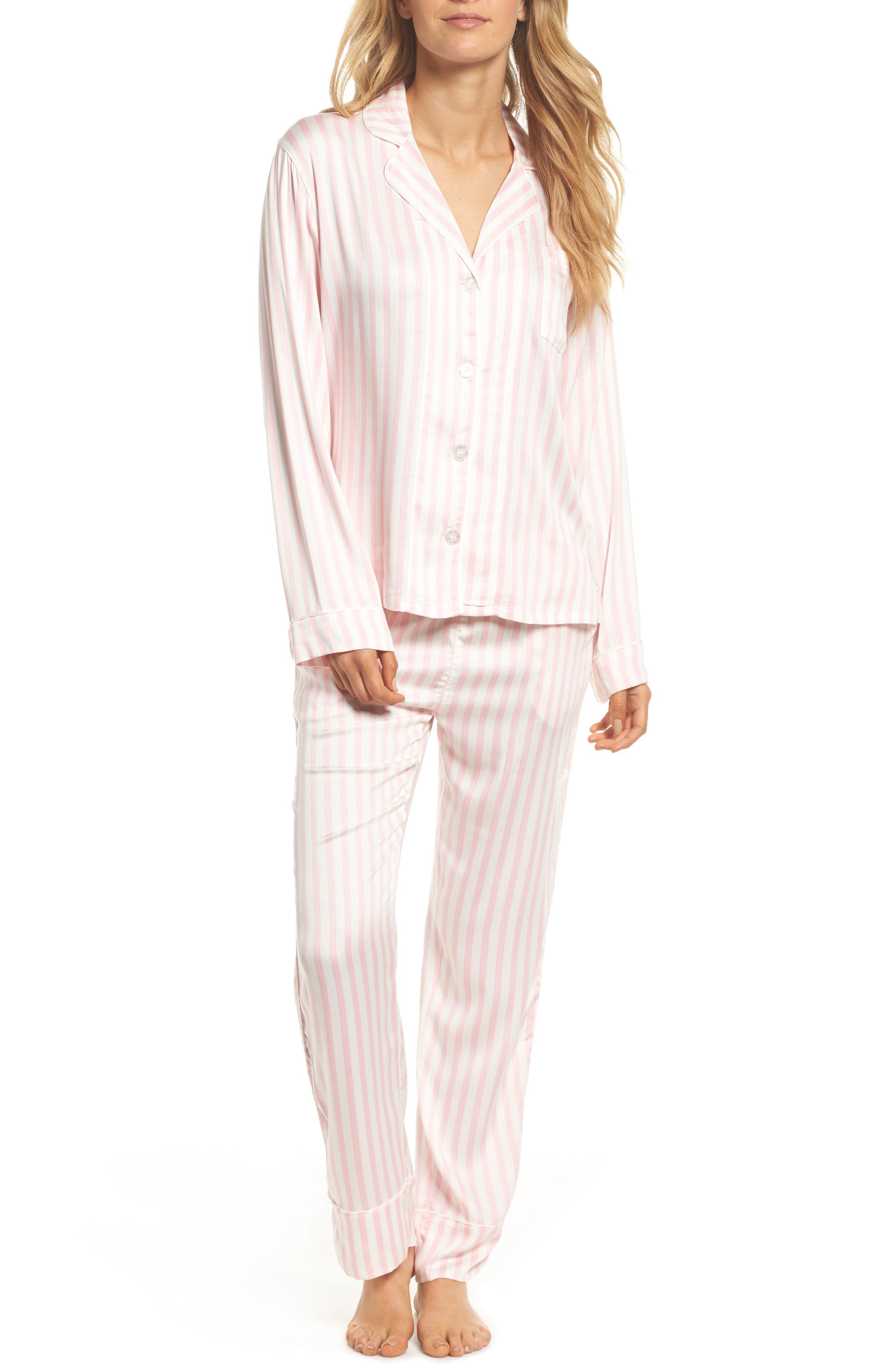 Alternate Image 1 Selected - PJ Salvage Stripe Pajamas