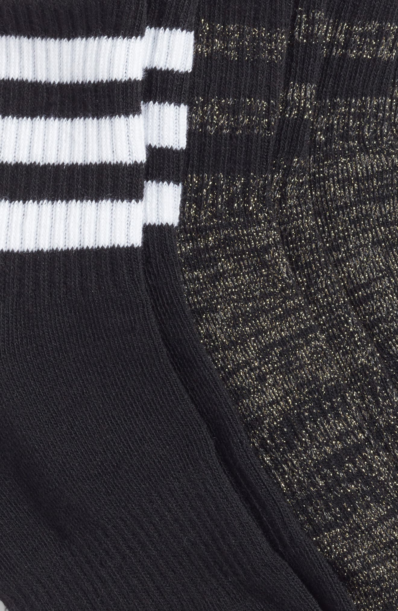 Alternate Image 2  - adidas 3-Stripes 3-Pack Ankle Socks