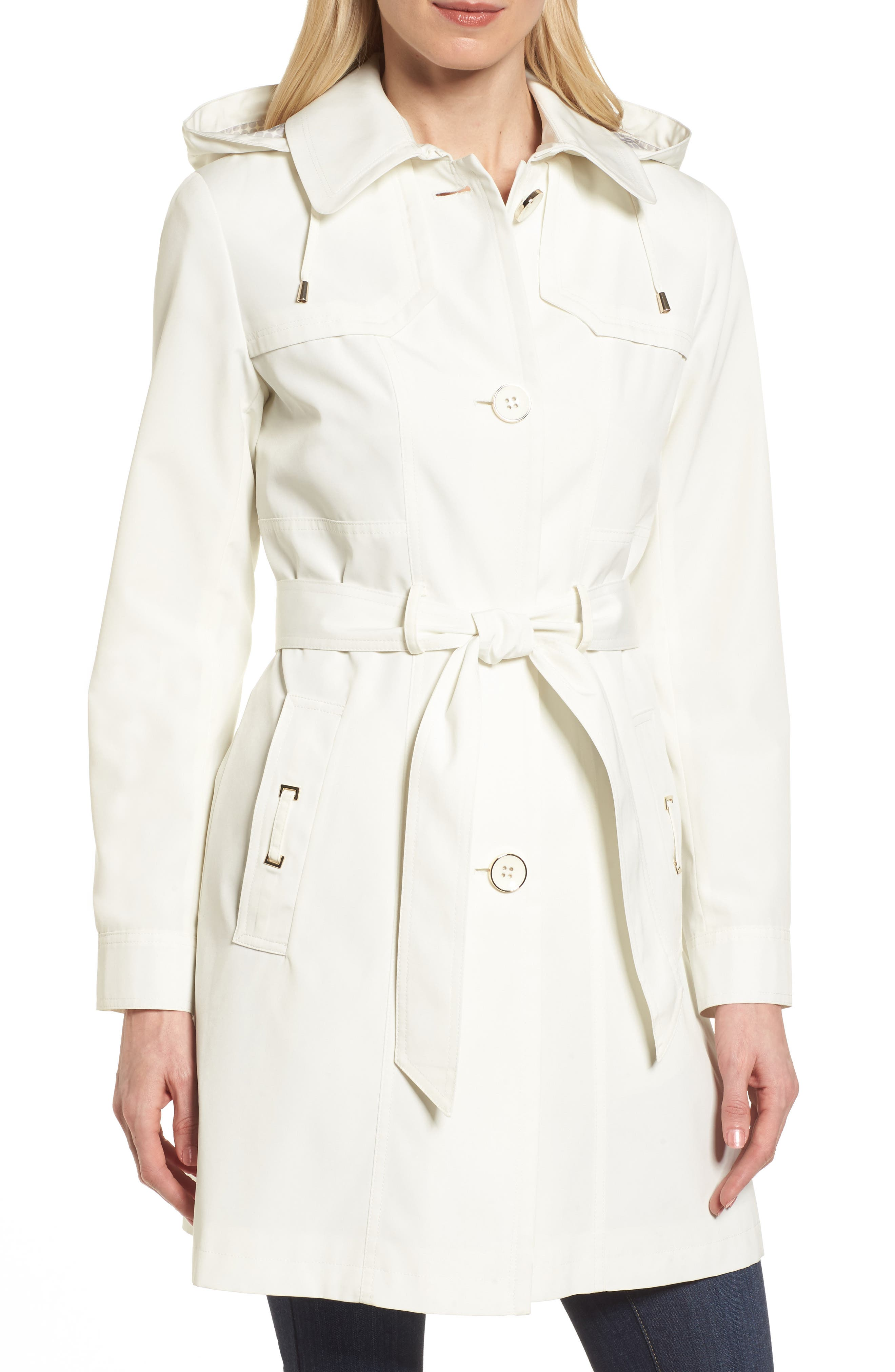 Gallery Belted Trench Raincoat (Petite)