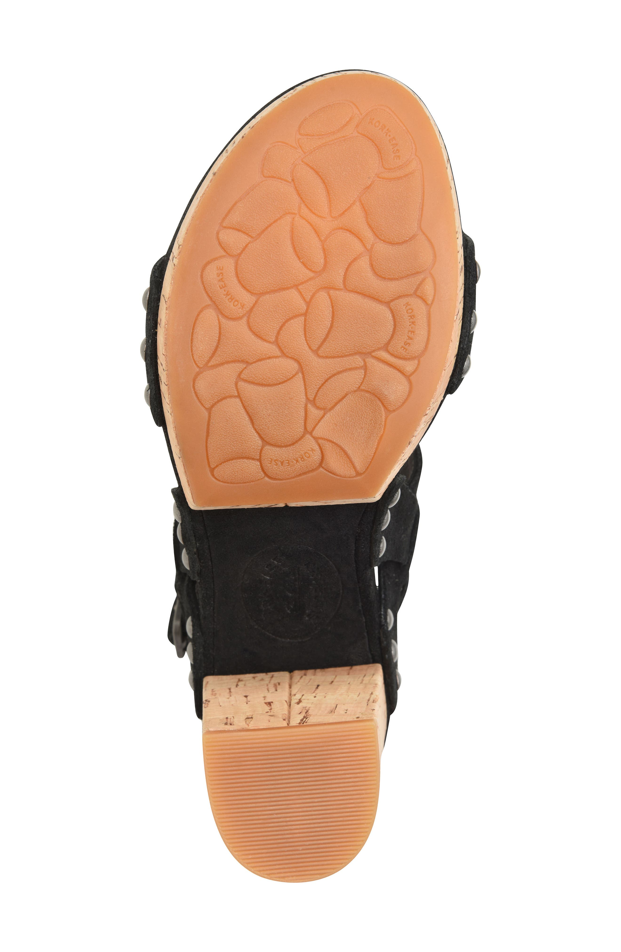 Palmdale Platform Sandal,                             Alternate thumbnail 6, color,                             Black Suede