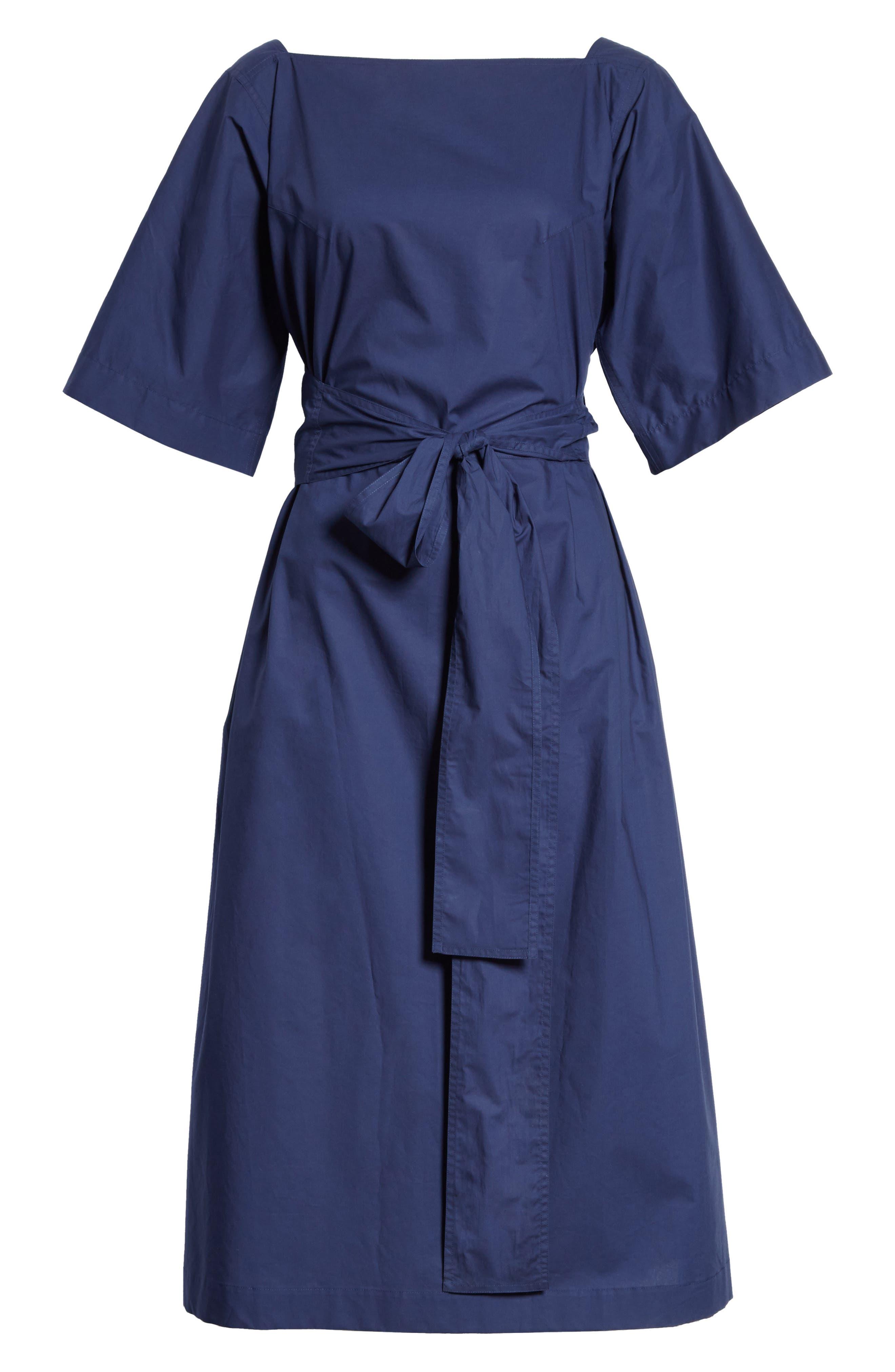 Tie Waist Dress,                             Alternate thumbnail 7, color,                             Matelot
