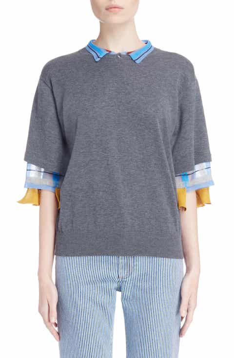 TOGA Check Tier Sleeve Sweater