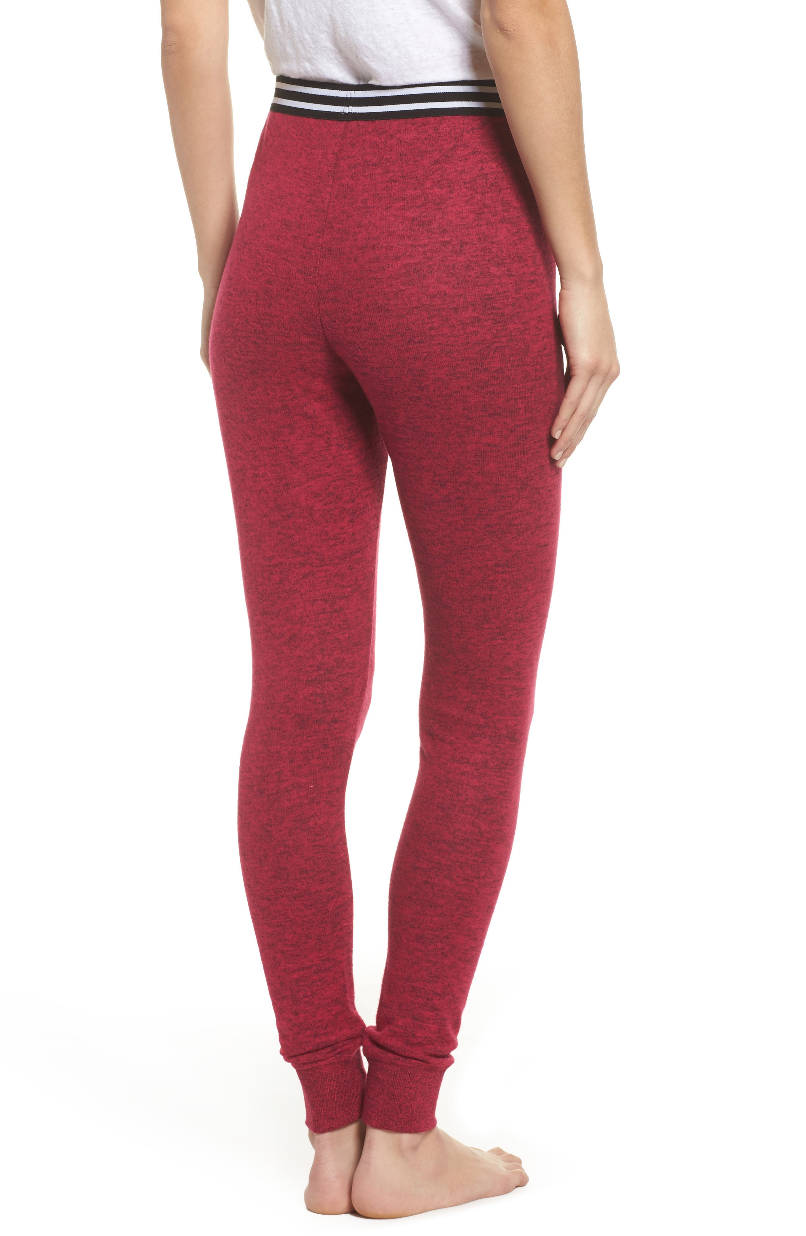 Cuddle Up Lounge Leggings,                             Alternate thumbnail 2, color,                             Pink Vivacious Marl