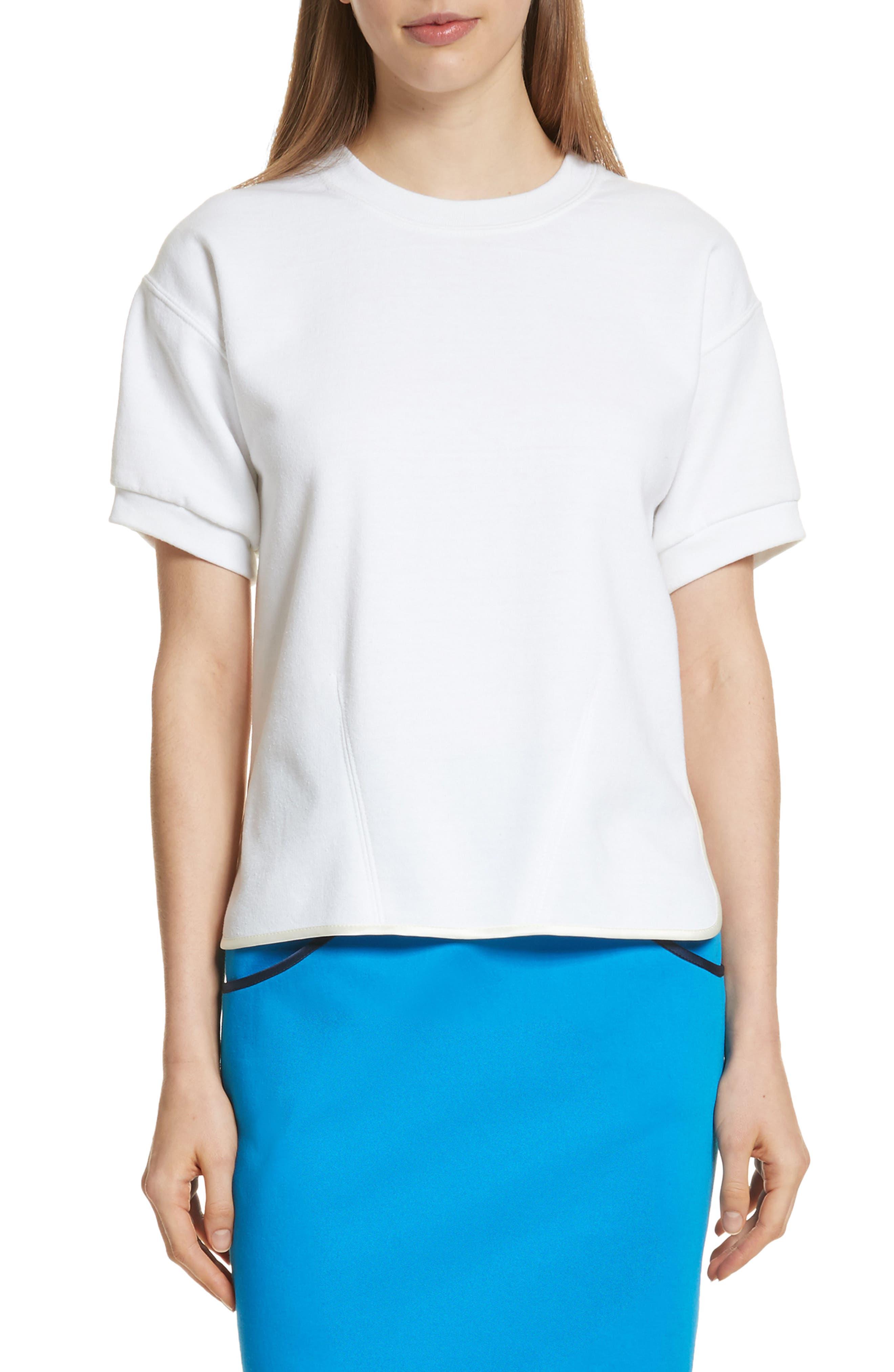 Sequin Back Sweatshirt,                         Main,                         color, White