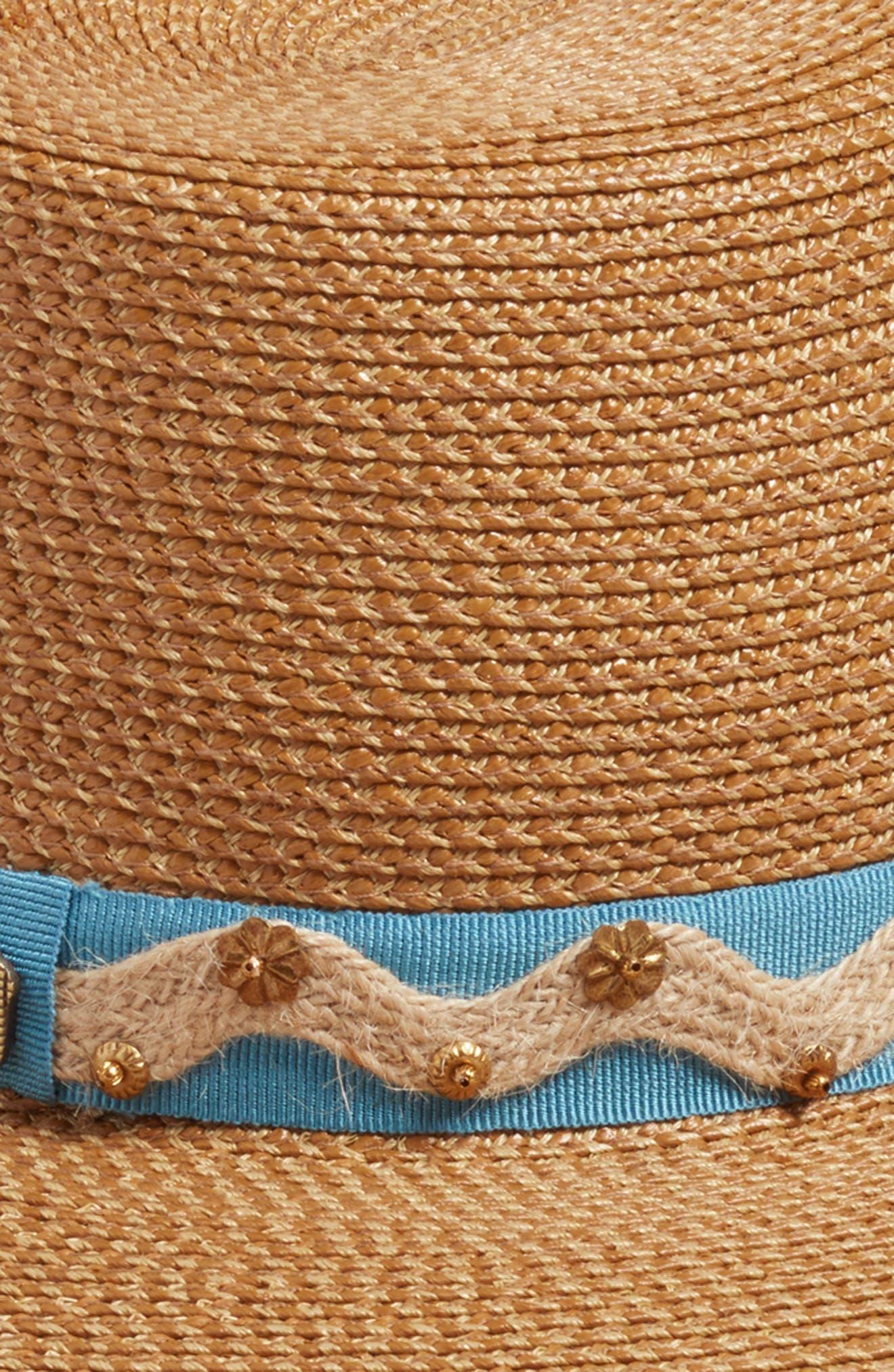 Kadija Squishee<sup>®</sup> Fedora,                             Alternate thumbnail 3, color,                             Natural/ Blue