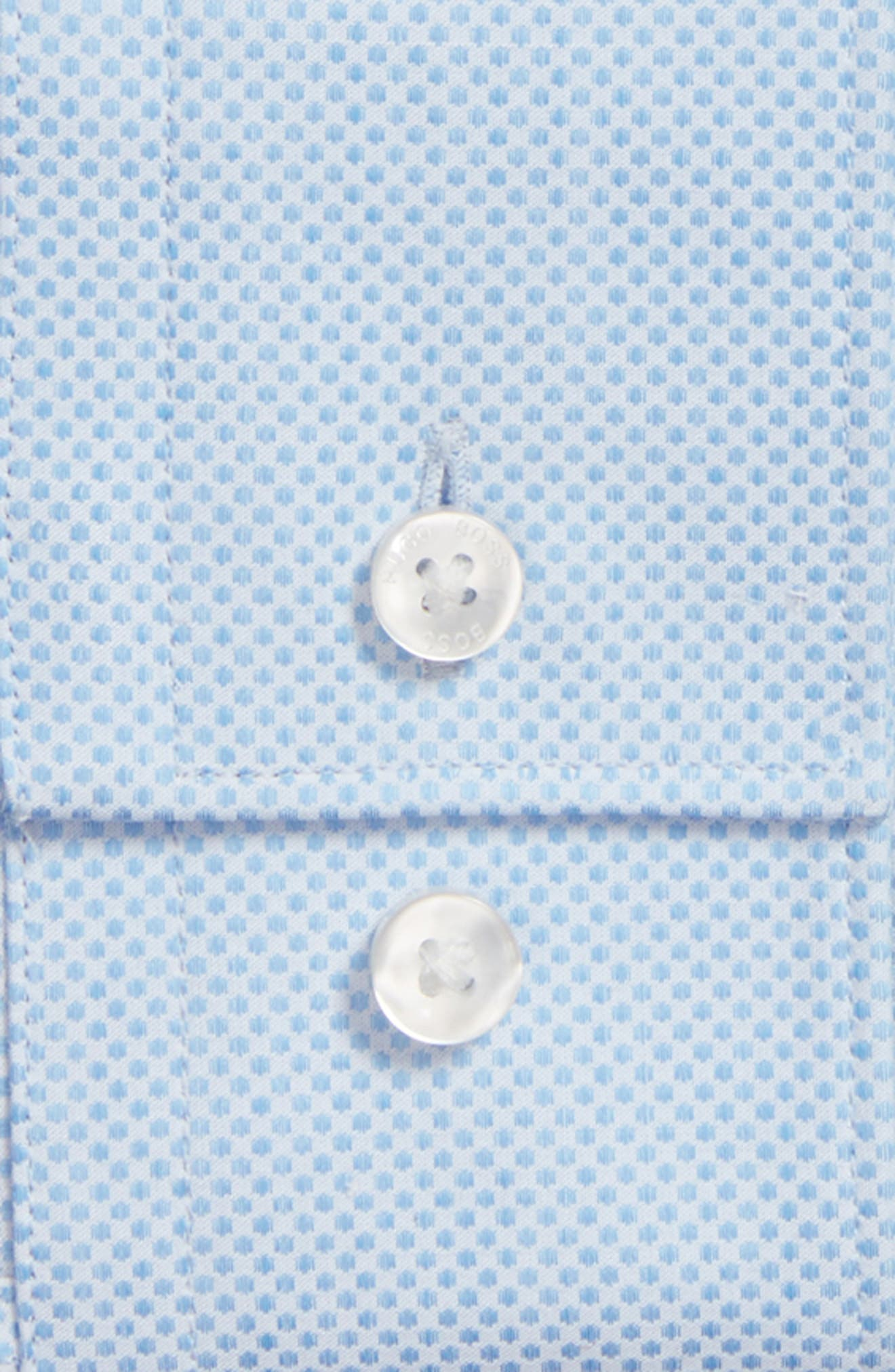 Alternate Image 5  - BOSS Ismo Slim Fit Dot Dress Shirt