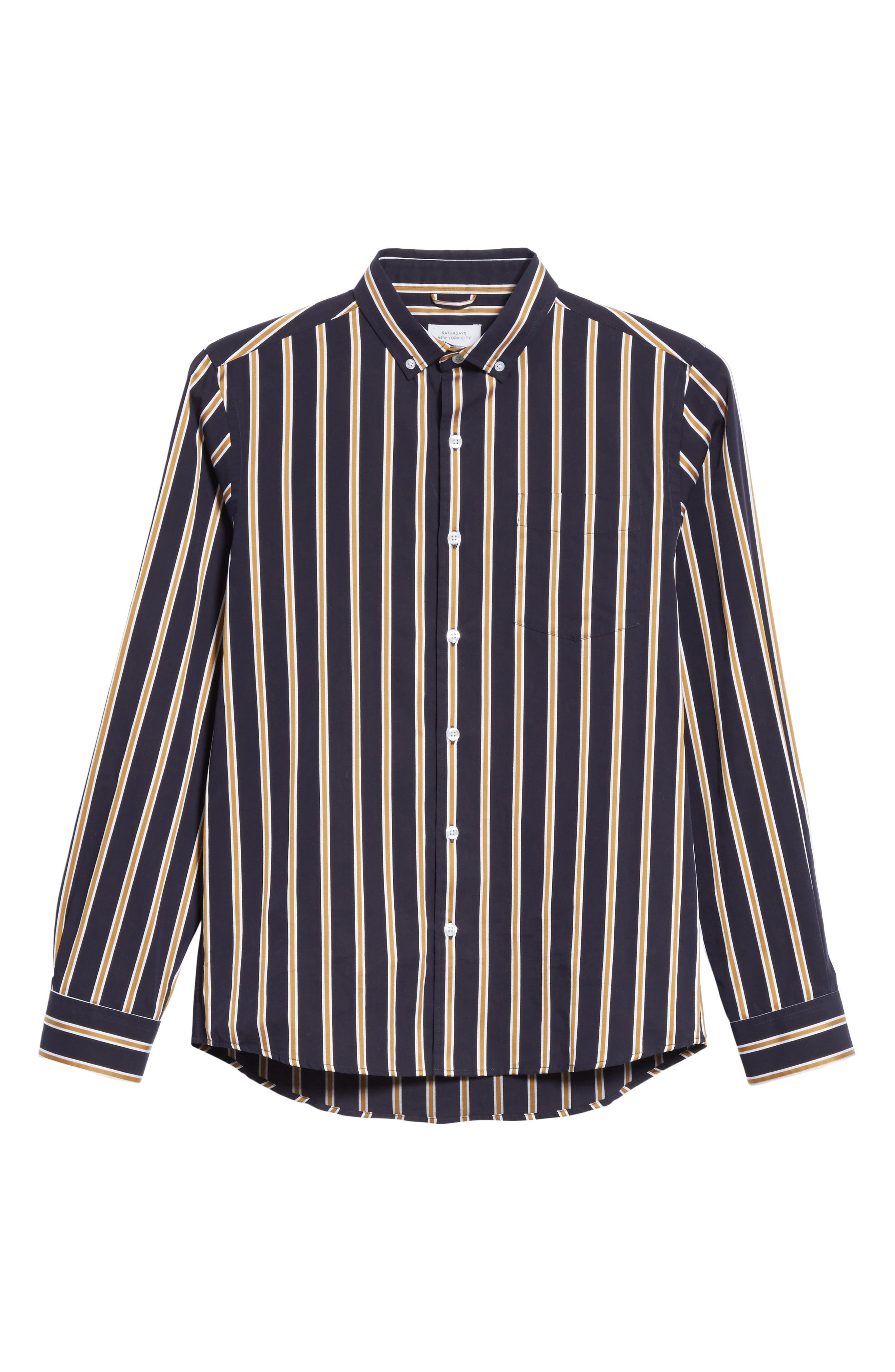 Alternate Image 6  - Saturdays NYC Crosby Satin Stripe Shirt