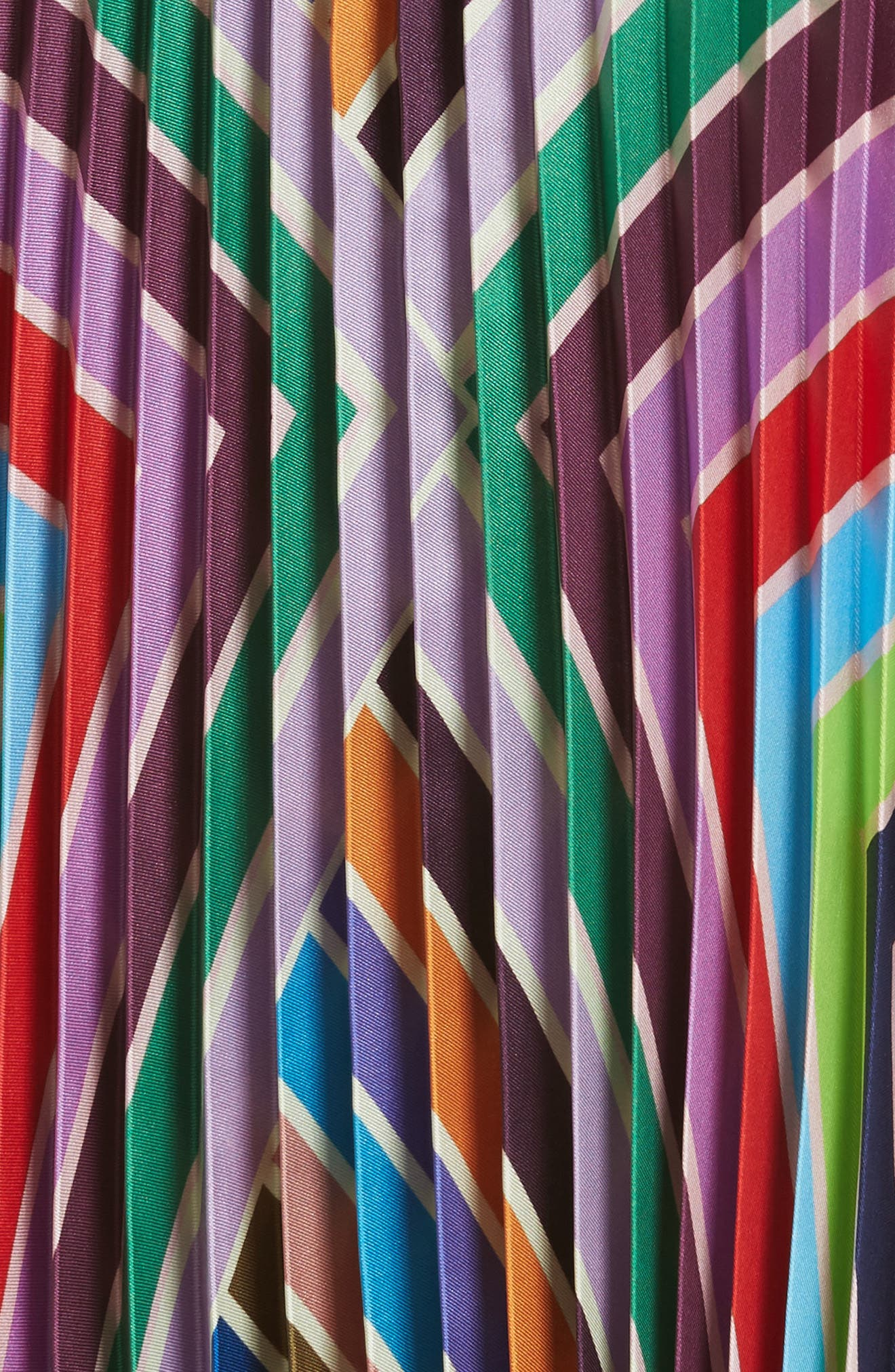 Stripe Pleated Handkerchief Skirt,                             Alternate thumbnail 6, color,                             Multi