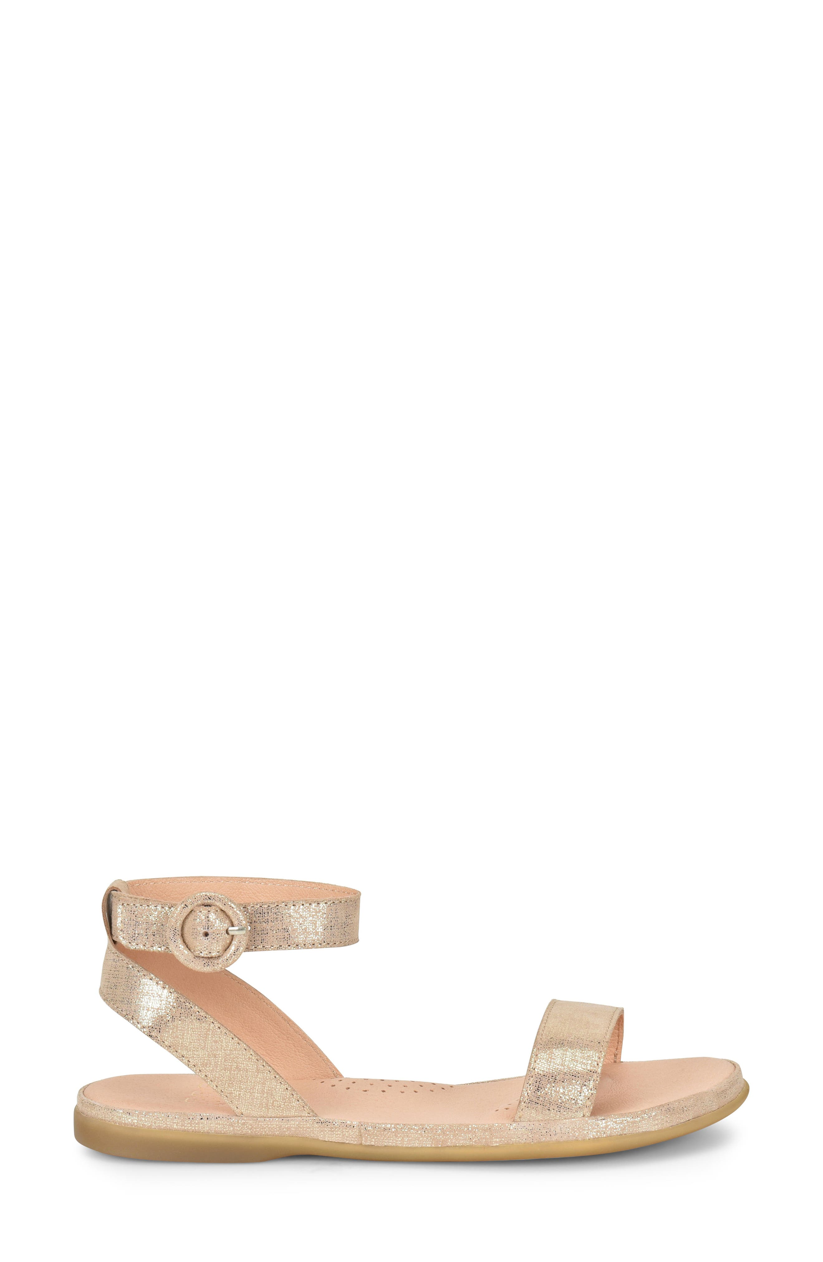 Stellan Sandal,                             Alternate thumbnail 3, color,                             Gold Metallic Fabric