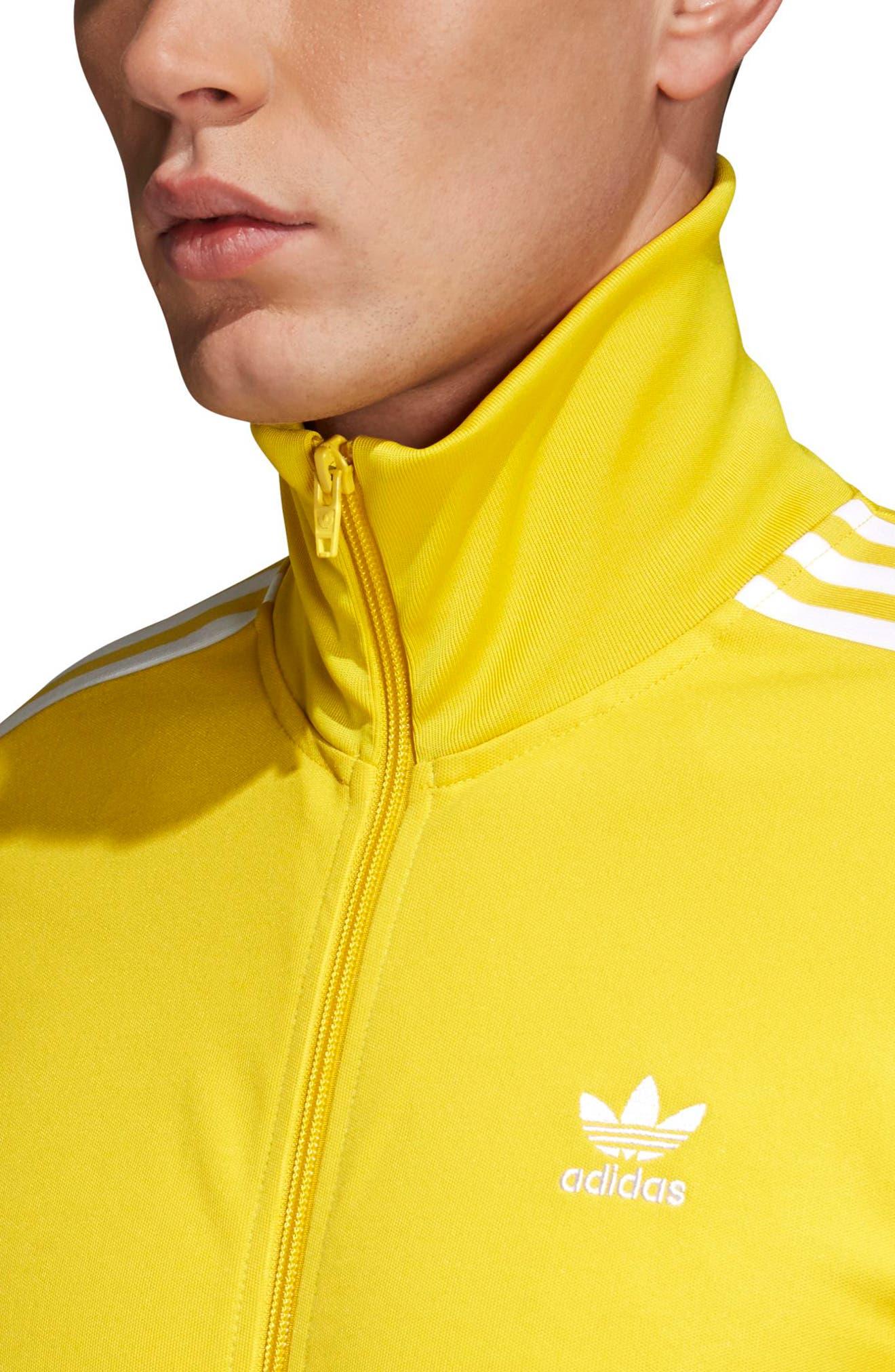 adidas Original Franz Beckenbauer Track Jacket,                             Alternate thumbnail 4, color,                             Tribe Yellow