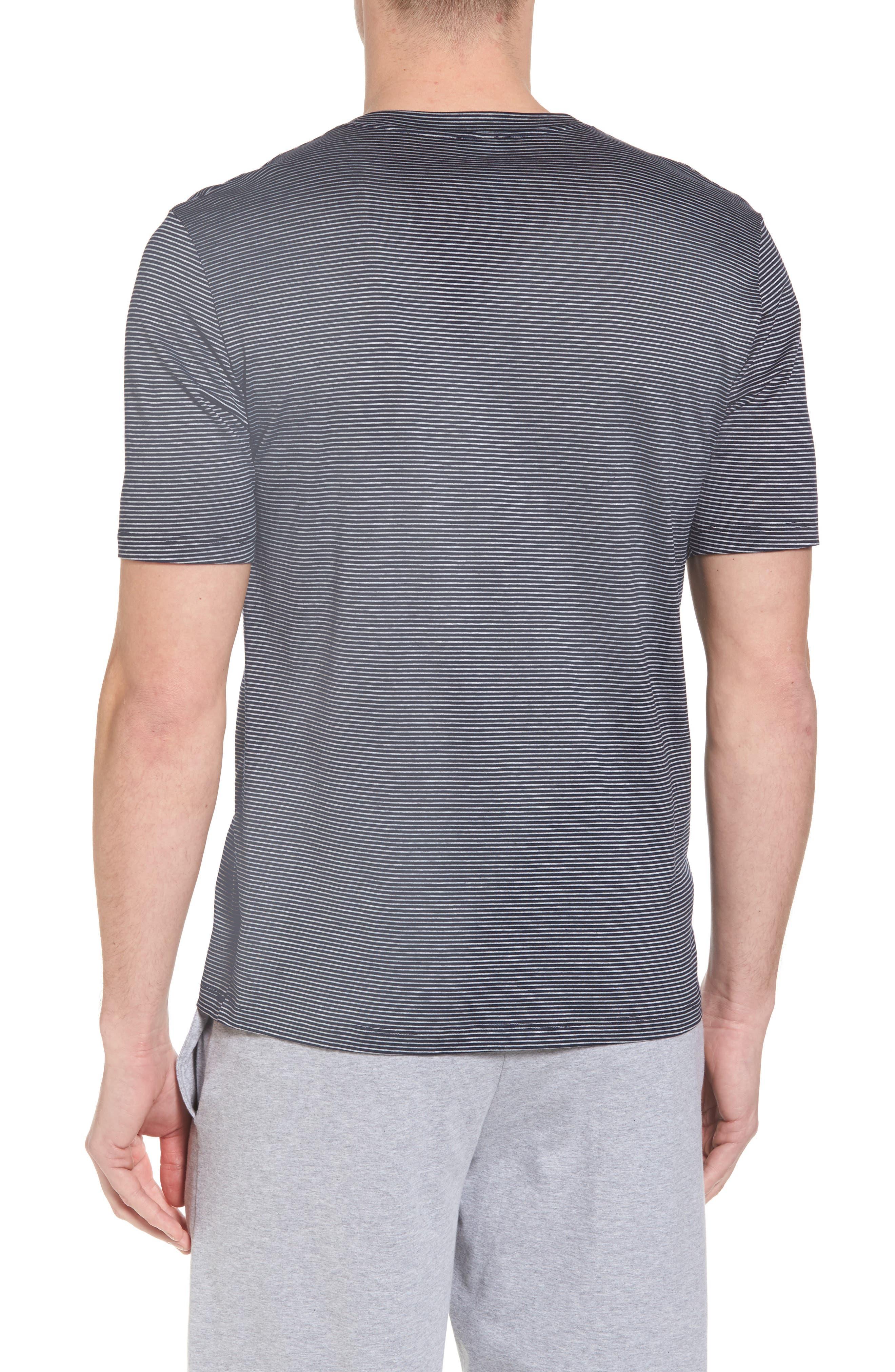 Sporty Stripe Cotton V-Neck T-Shirt,                             Alternate thumbnail 2, color,                             Marine Grey Stripe