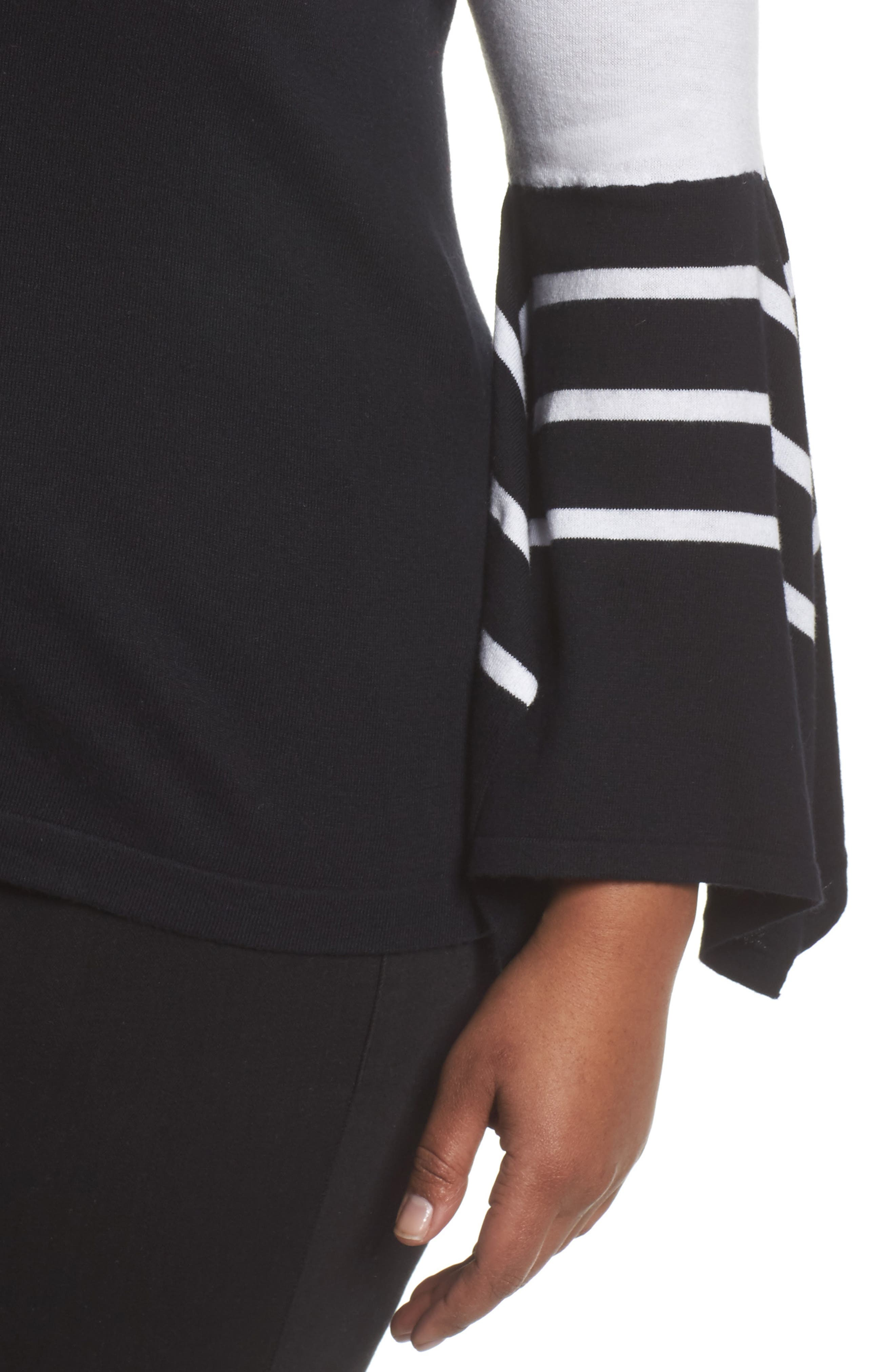 Alternate Image 4  - Vince Camuto Handkerchief Sleeve Stripe Sweater (Plus Size)