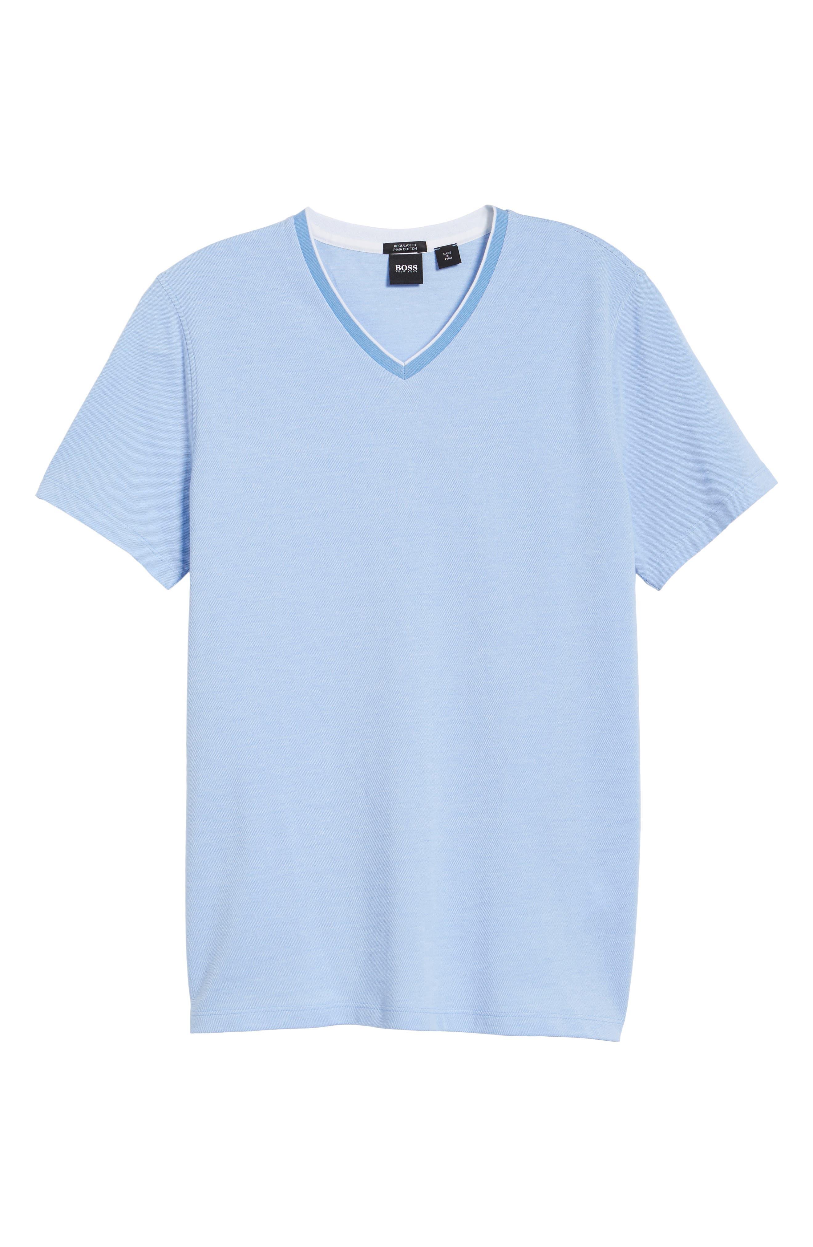 Tilson Slim Fit V-Neck T-Shirt,                             Alternate thumbnail 6, color,                             Blue