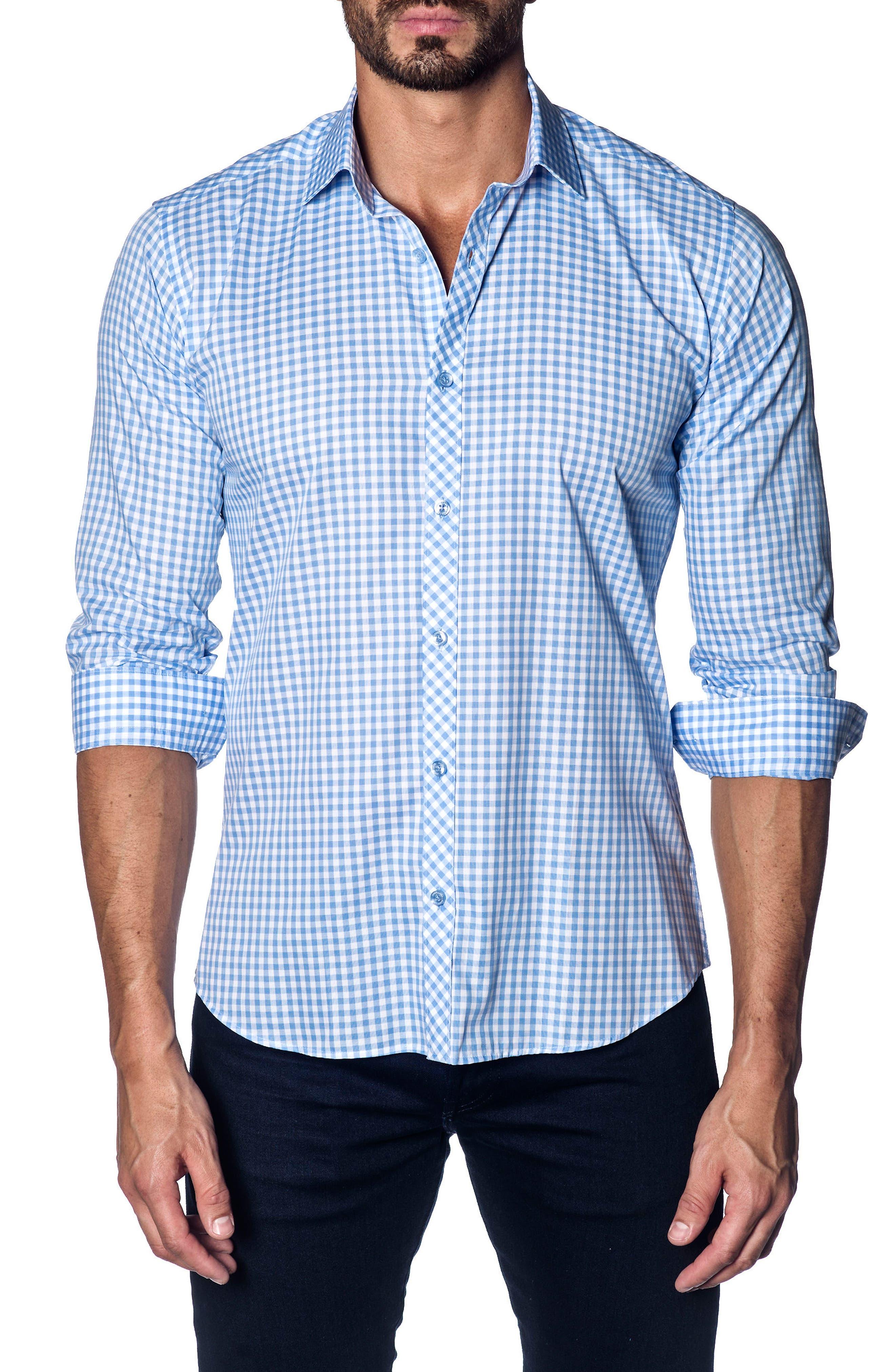 Jared Lang Slim Fit Gingham Sport Shirt