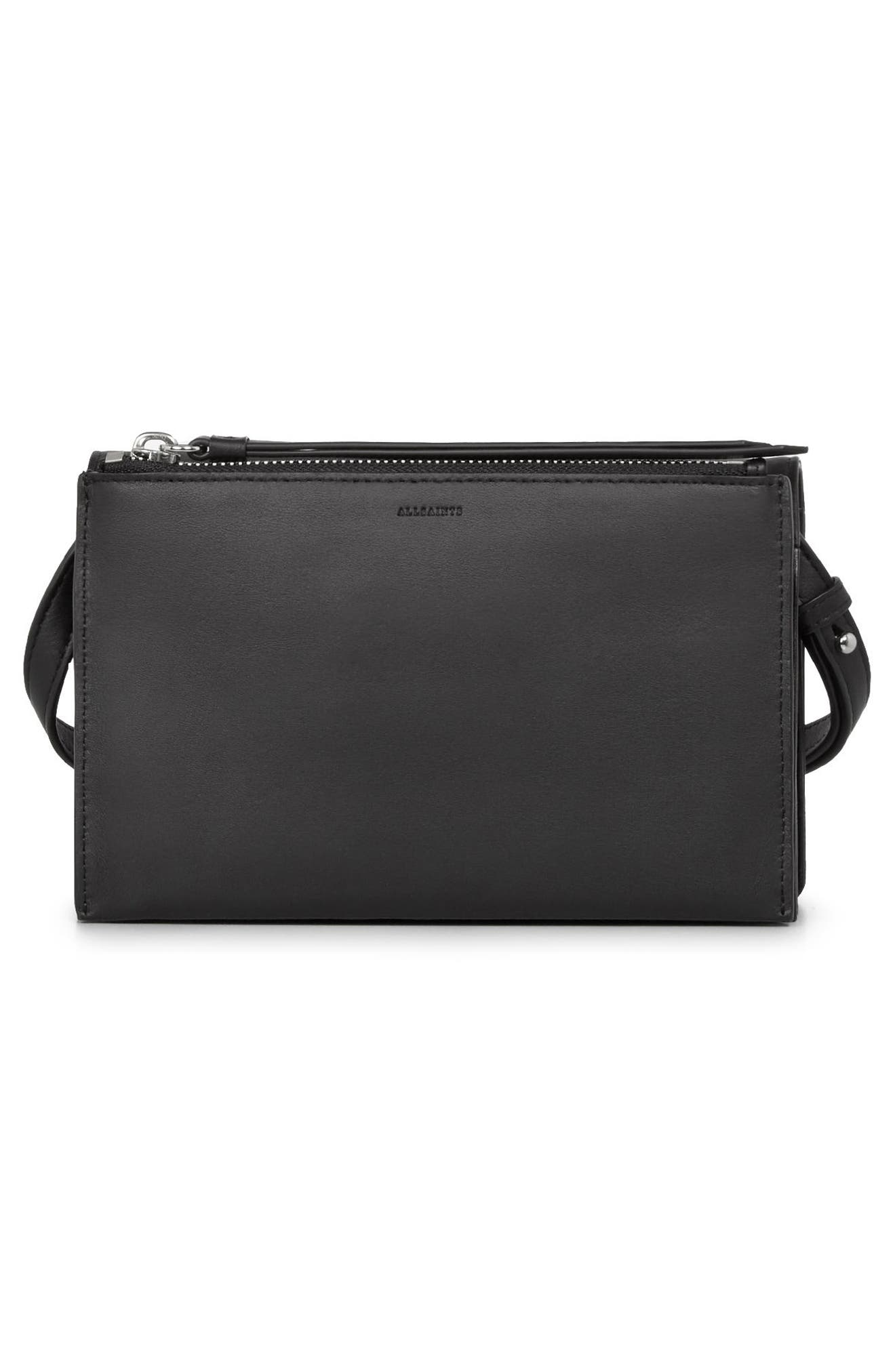 Billie Leather Wallet,                             Alternate thumbnail 3, color,                             Black