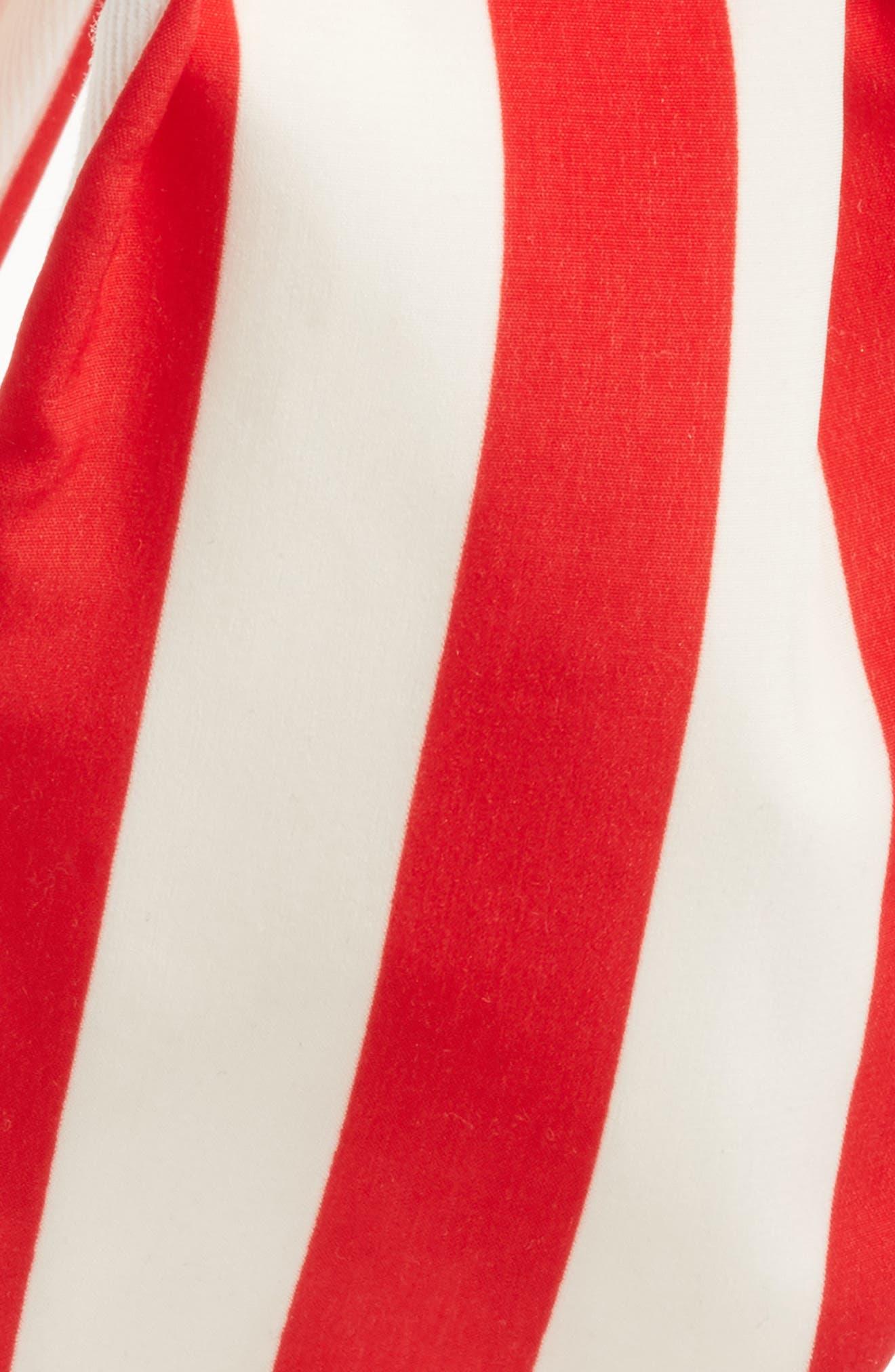 Oversize Stripe Head Wrap,                             Alternate thumbnail 2, color,                             Red/ White