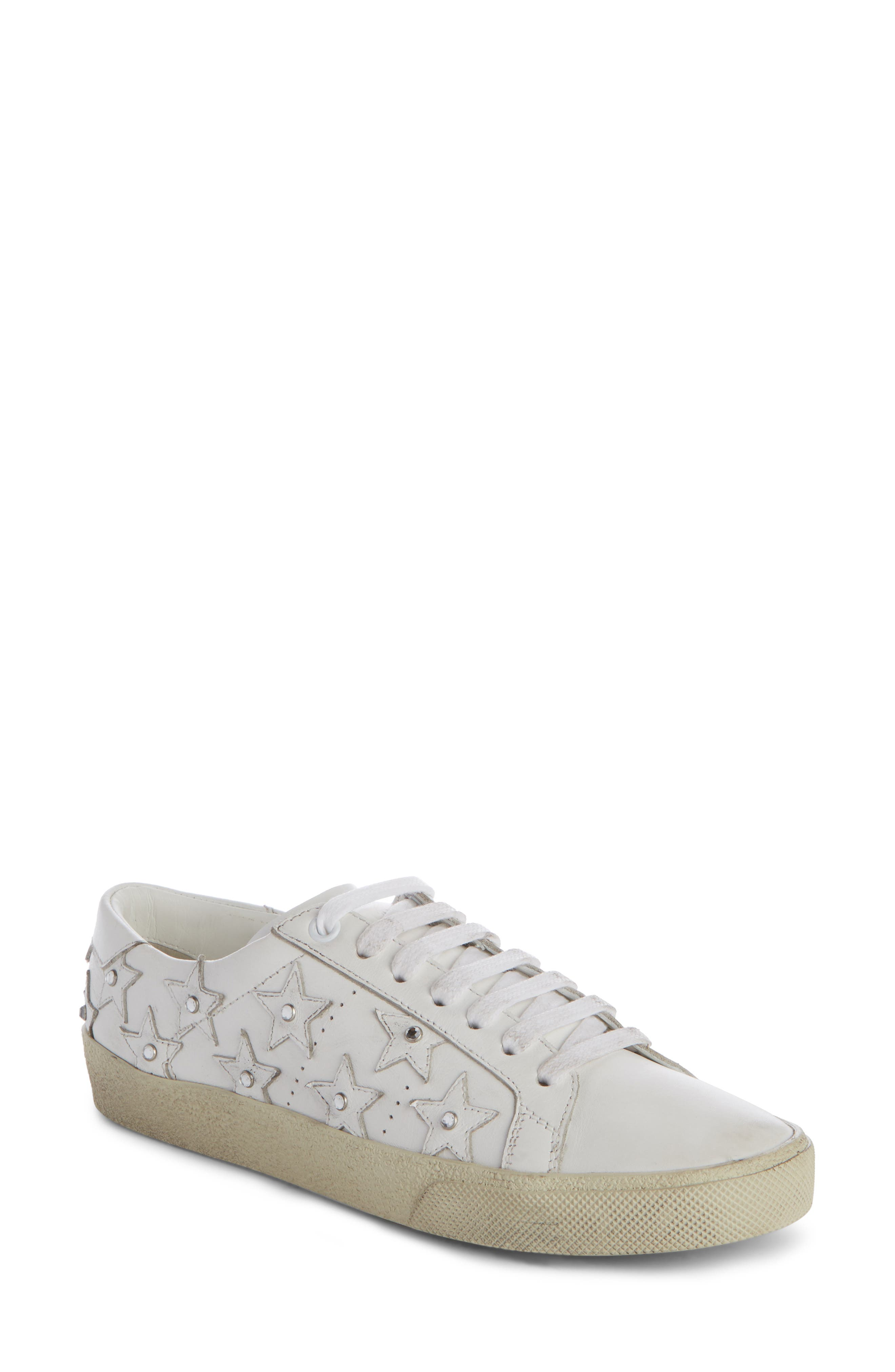 Main Image - Saint Laurent Court Classic Embellished Star Sneaker (Women)