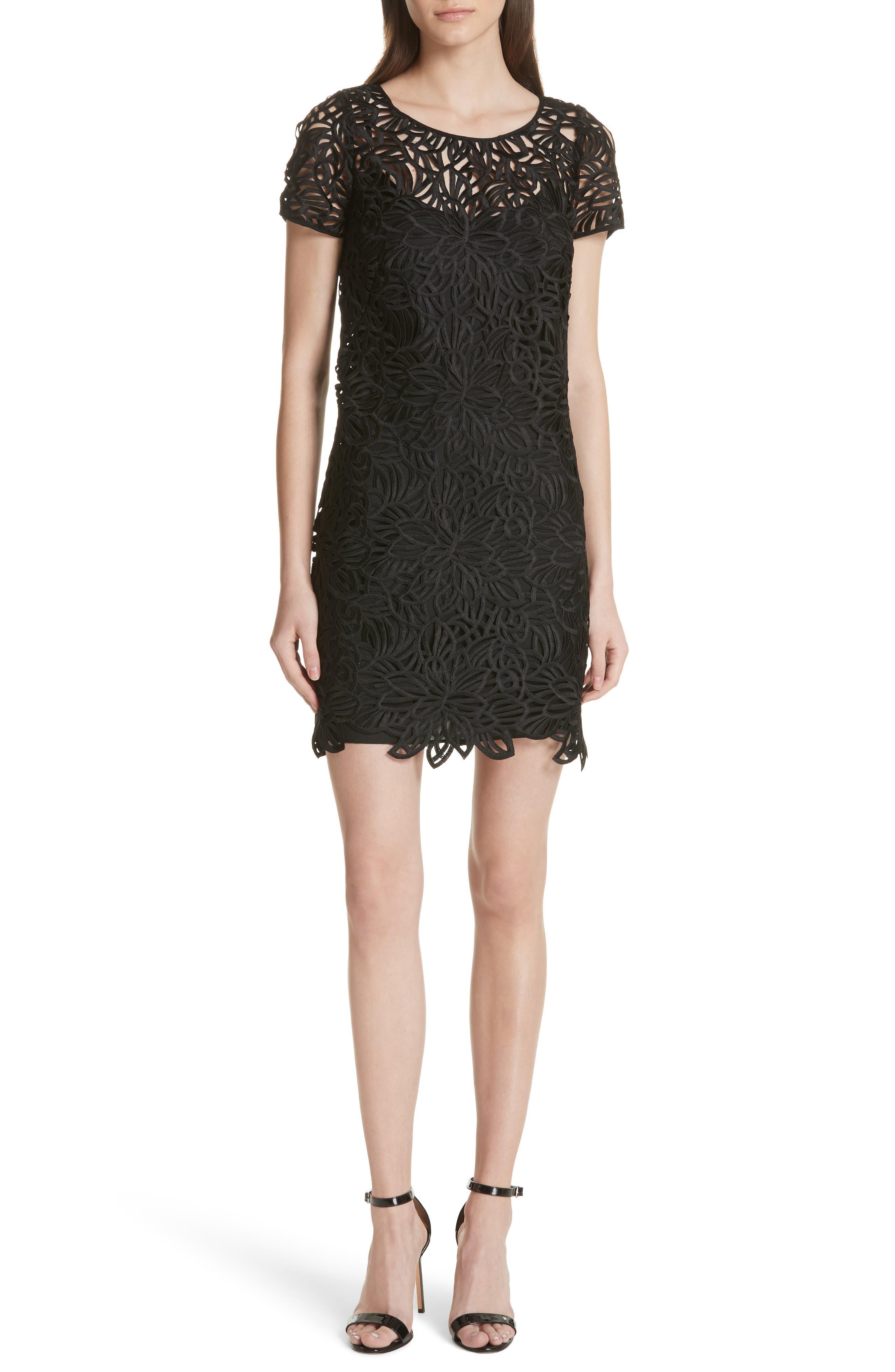 Chloe Lace Shift Dress,                         Main,                         color, Black