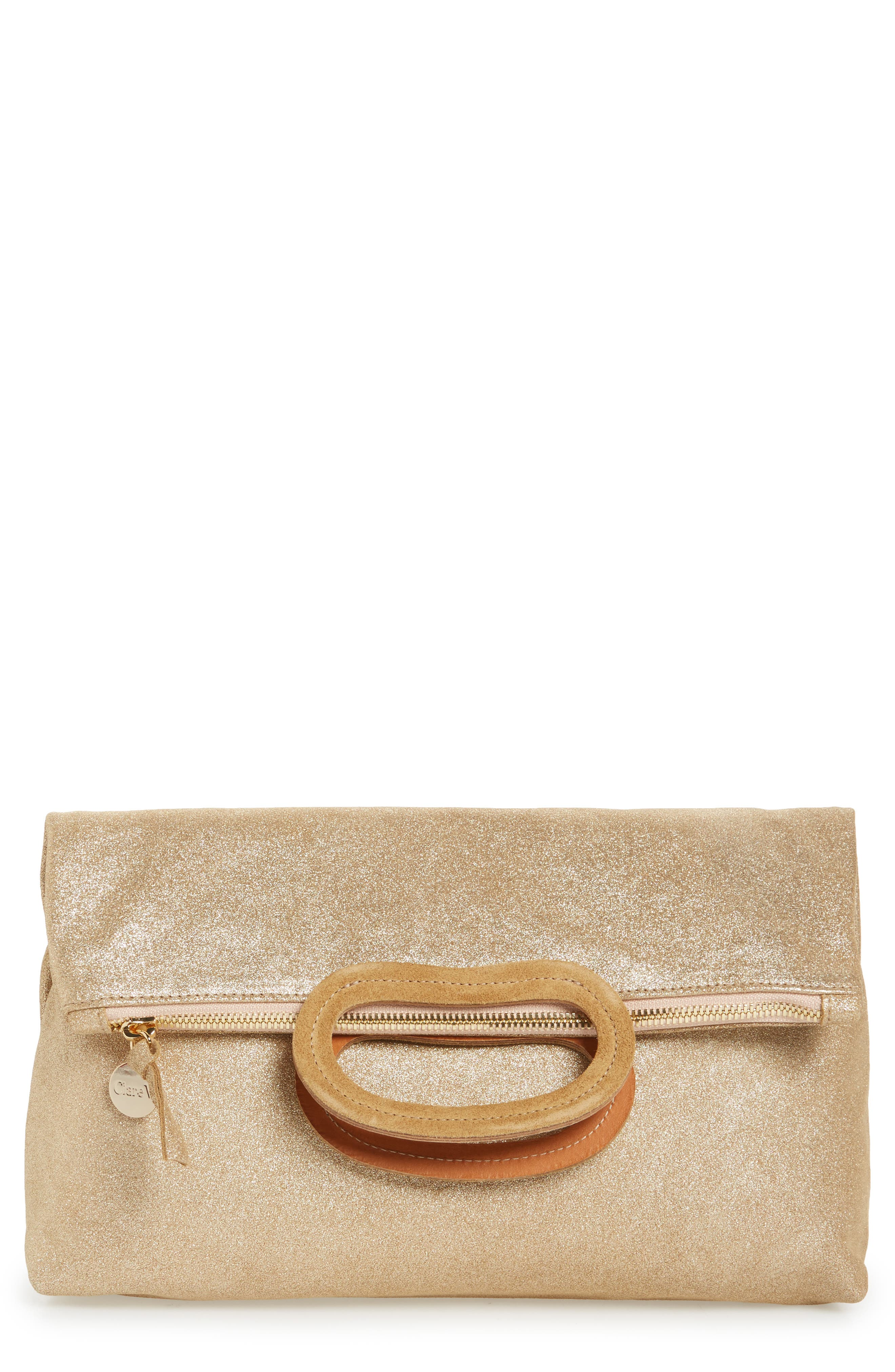 Marcelle Maison Leather Tote,                             Main thumbnail 1, color,                             Gold Shimmer Suede