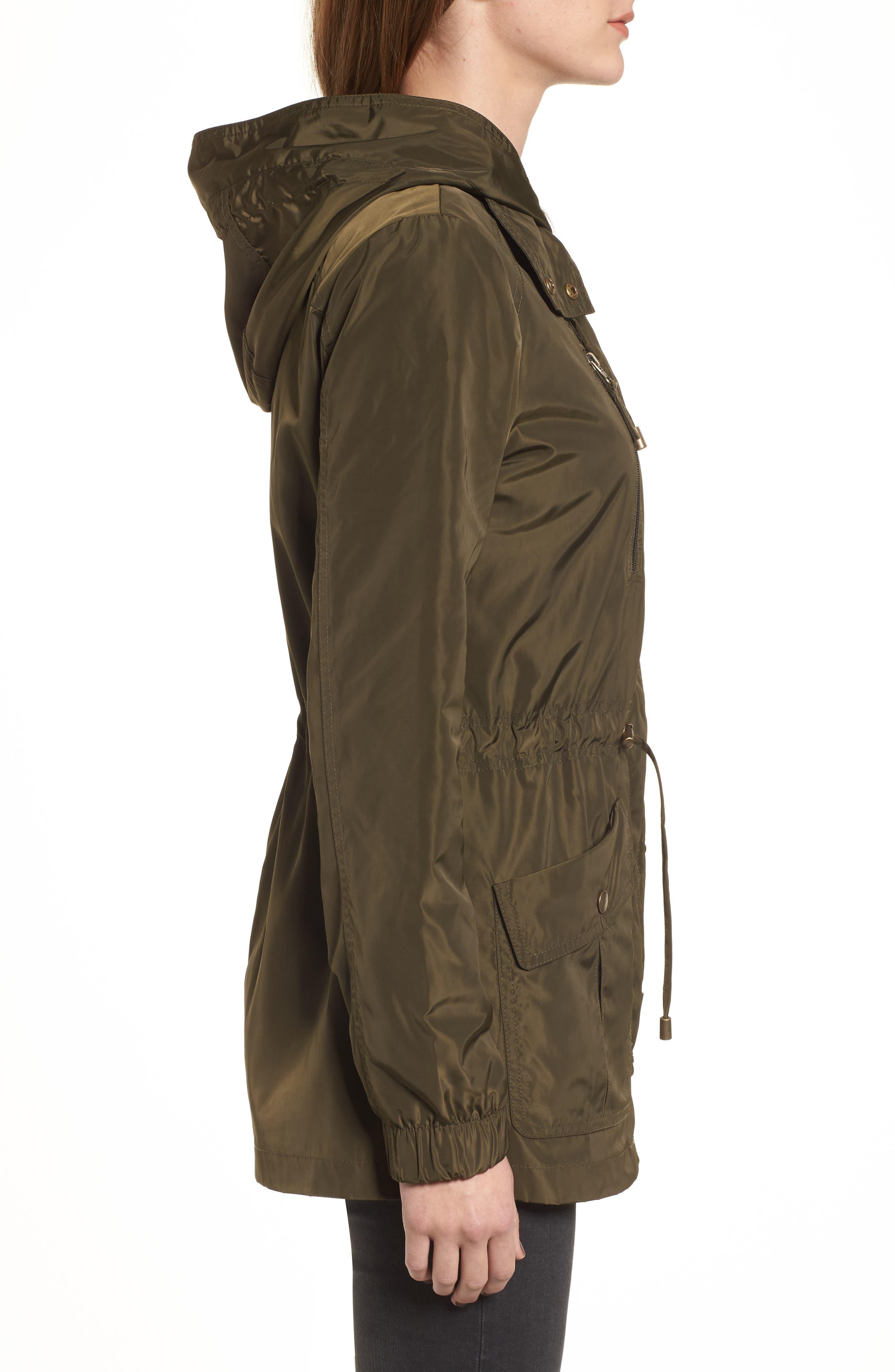 Rain Jacket,                             Alternate thumbnail 3, color,                             Black