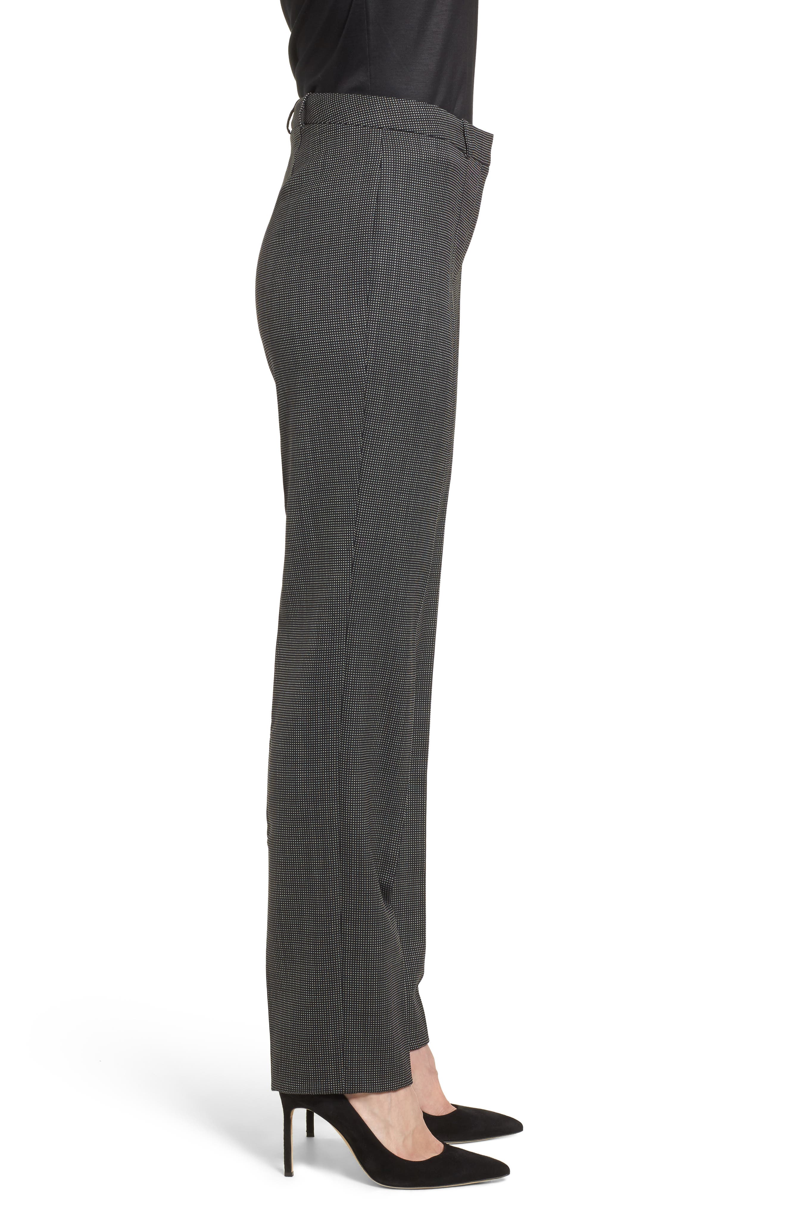 Tamea Straight Leg Stretch Wool Suit Pants,                             Alternate thumbnail 3, color,                             Black Fantasy