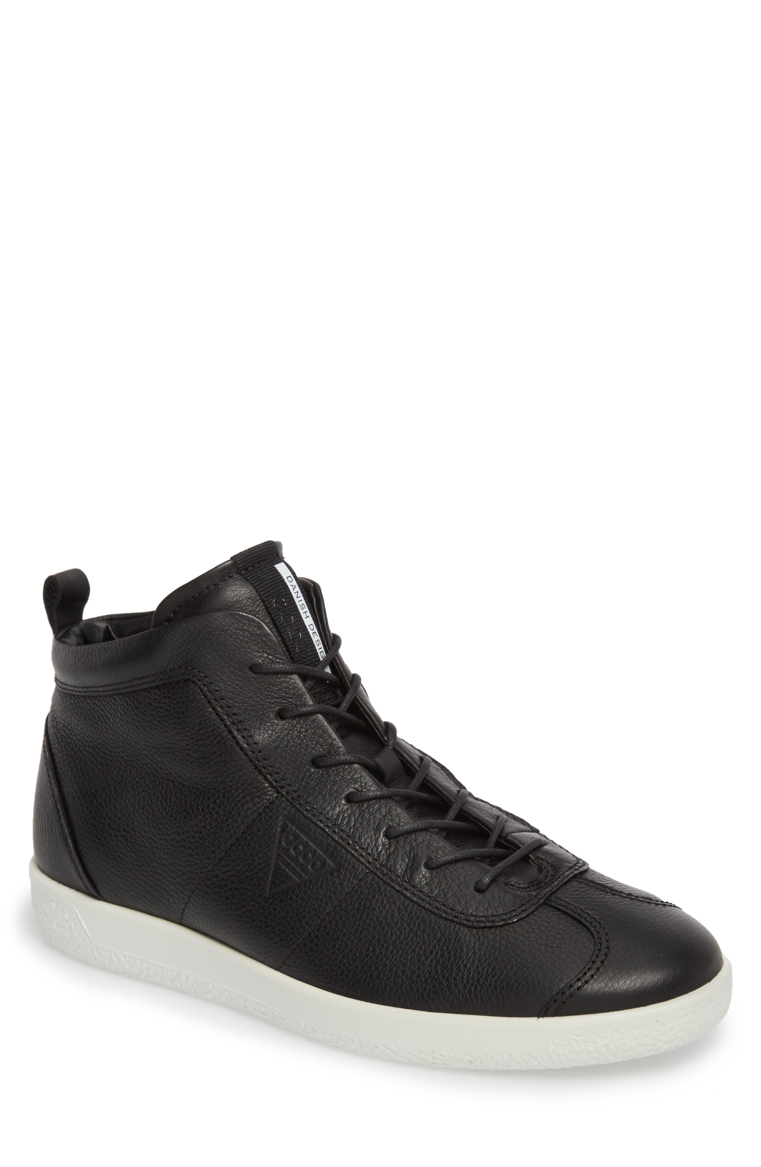 Soft 1 High Top Sneaker,                         Main,                         color, Black Nubuck
