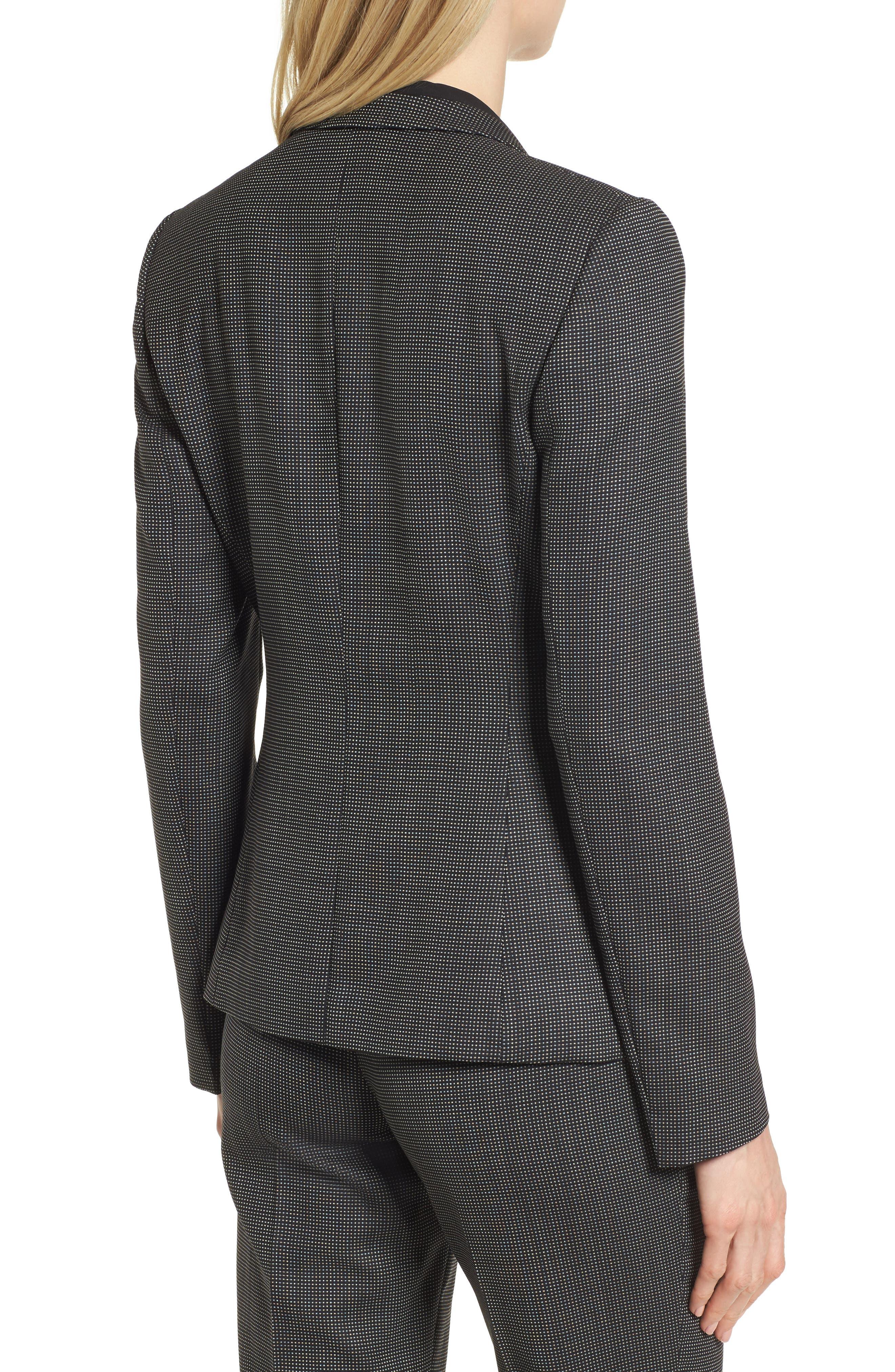 Jeresa Check Stretch Wool Suit Jacket,                             Alternate thumbnail 2, color,                             Black Fantasy