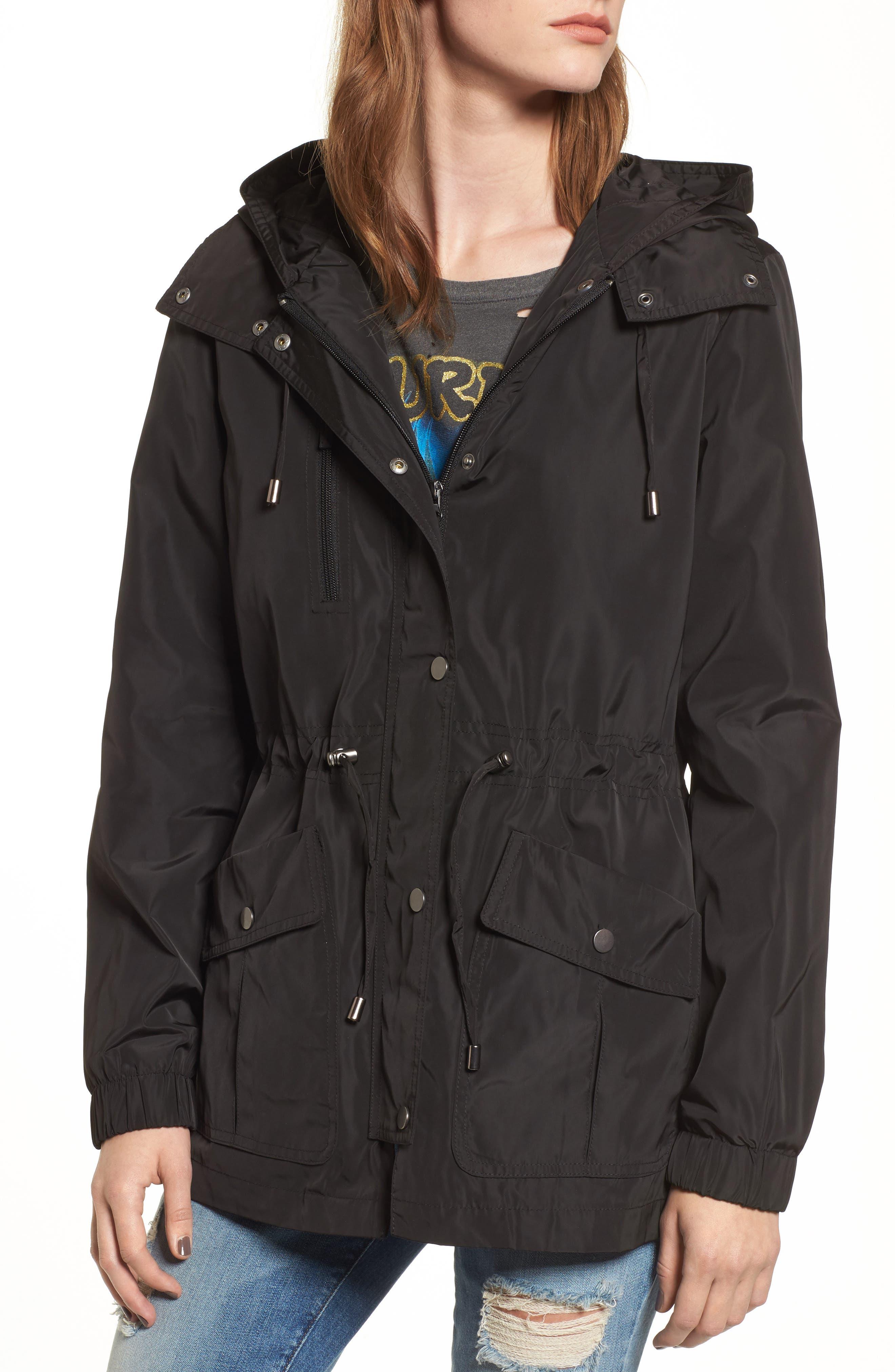 Rain Jacket,                             Alternate thumbnail 4, color,                             Black