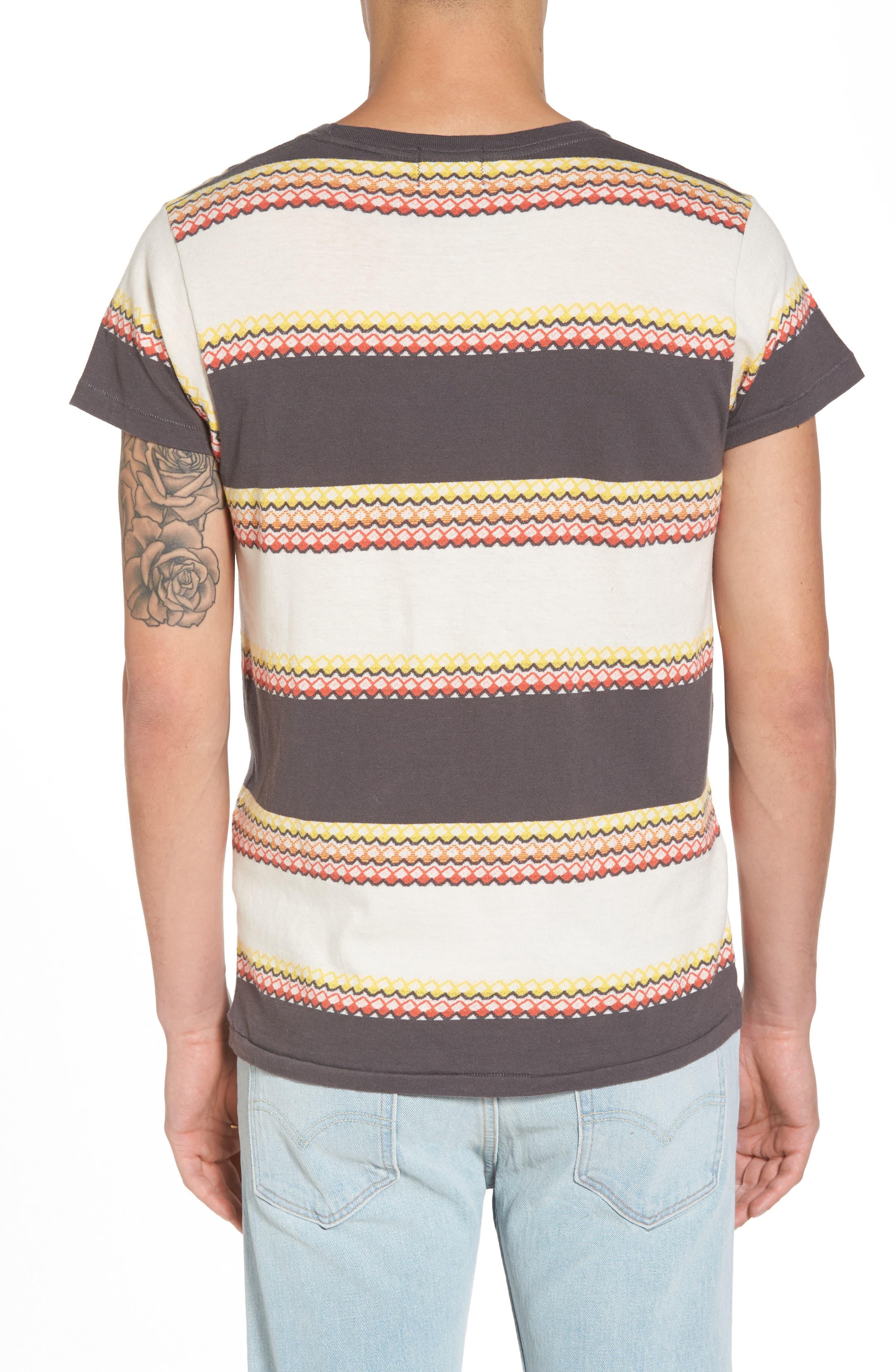 1950s Sportswear Pocket T-Shirt,                             Alternate thumbnail 2, color,                             Wave Jacquard Blue Multi