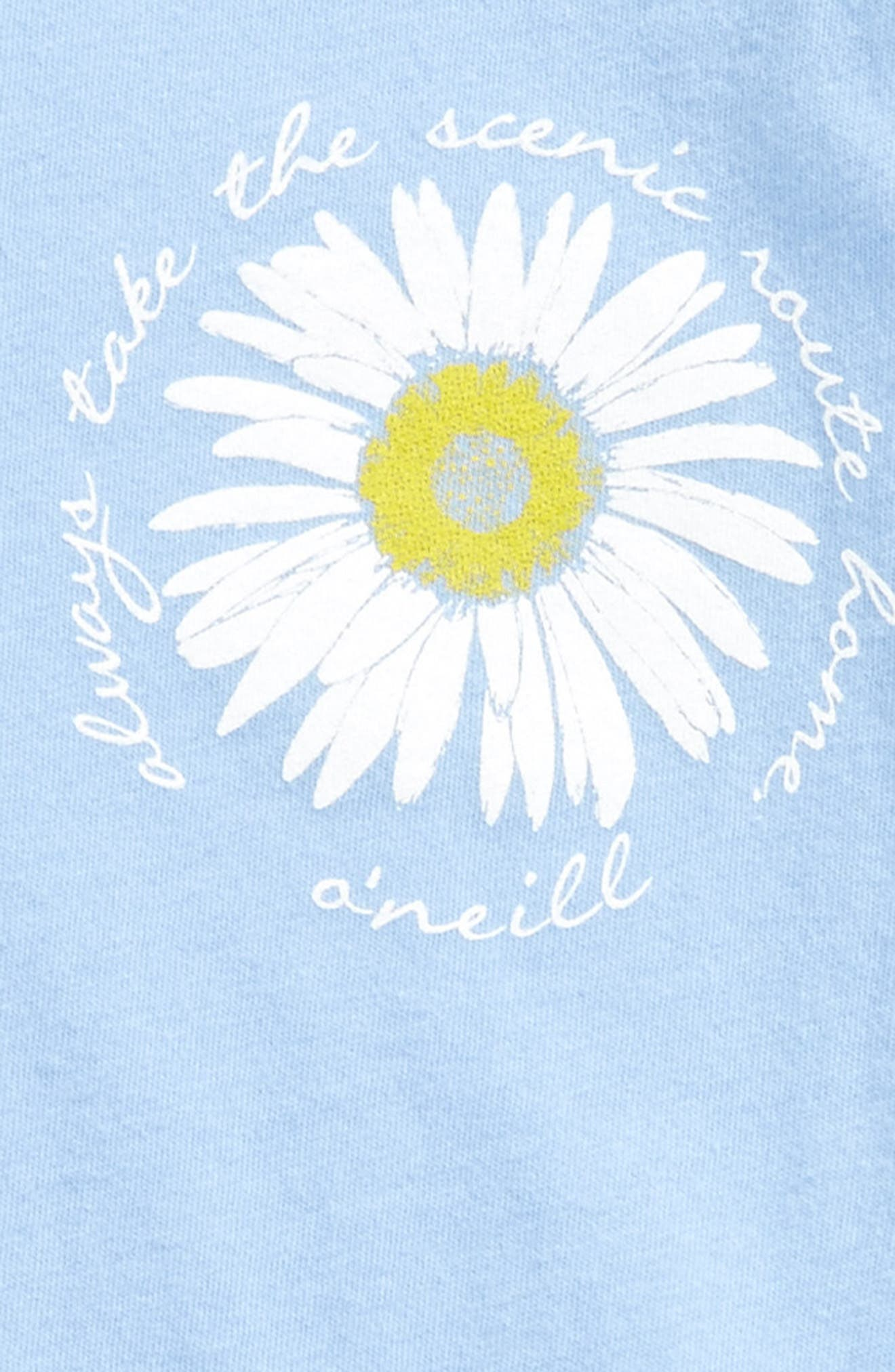 Daisy Do Graphic Tee,                             Alternate thumbnail 2, color,                             Coastal Blue - Ctb