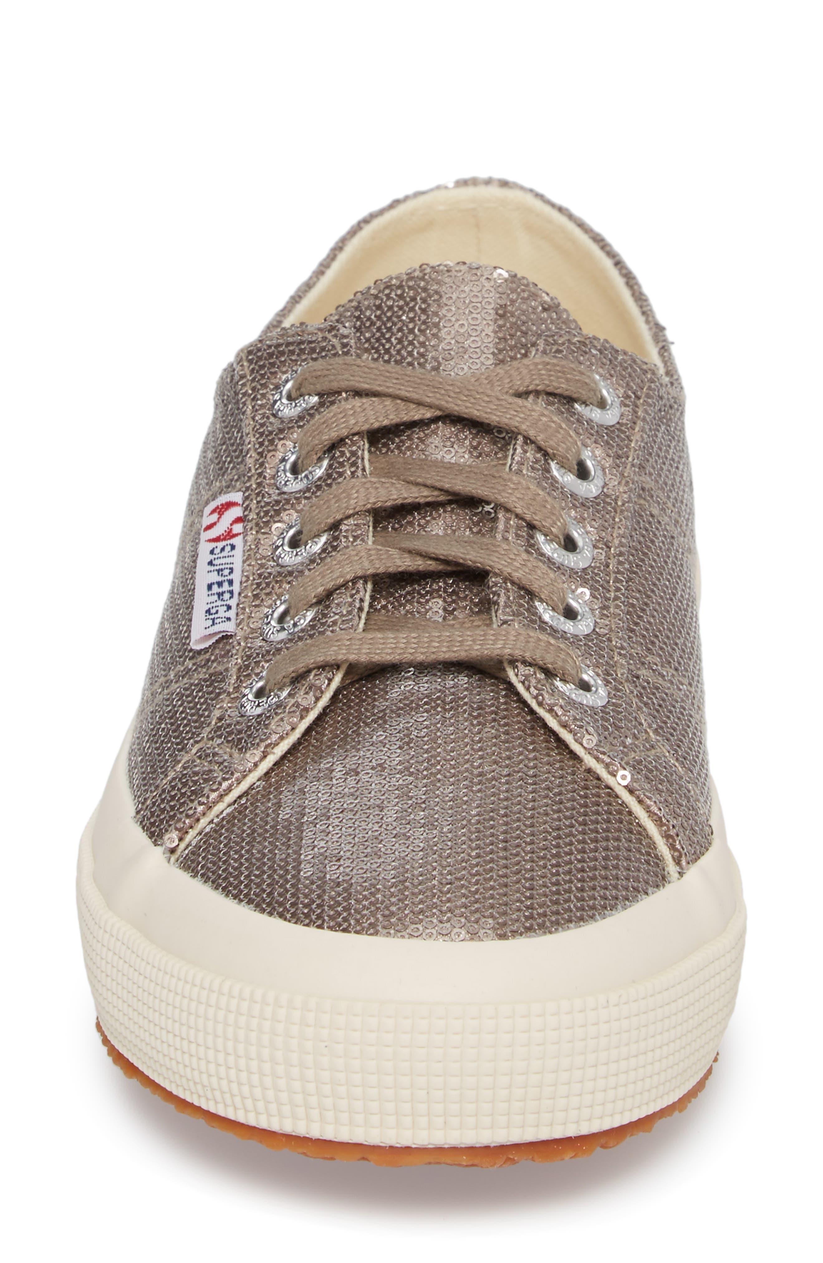 2750 Micro Sequin Sneaker,                             Alternate thumbnail 4, color,                             Bronze