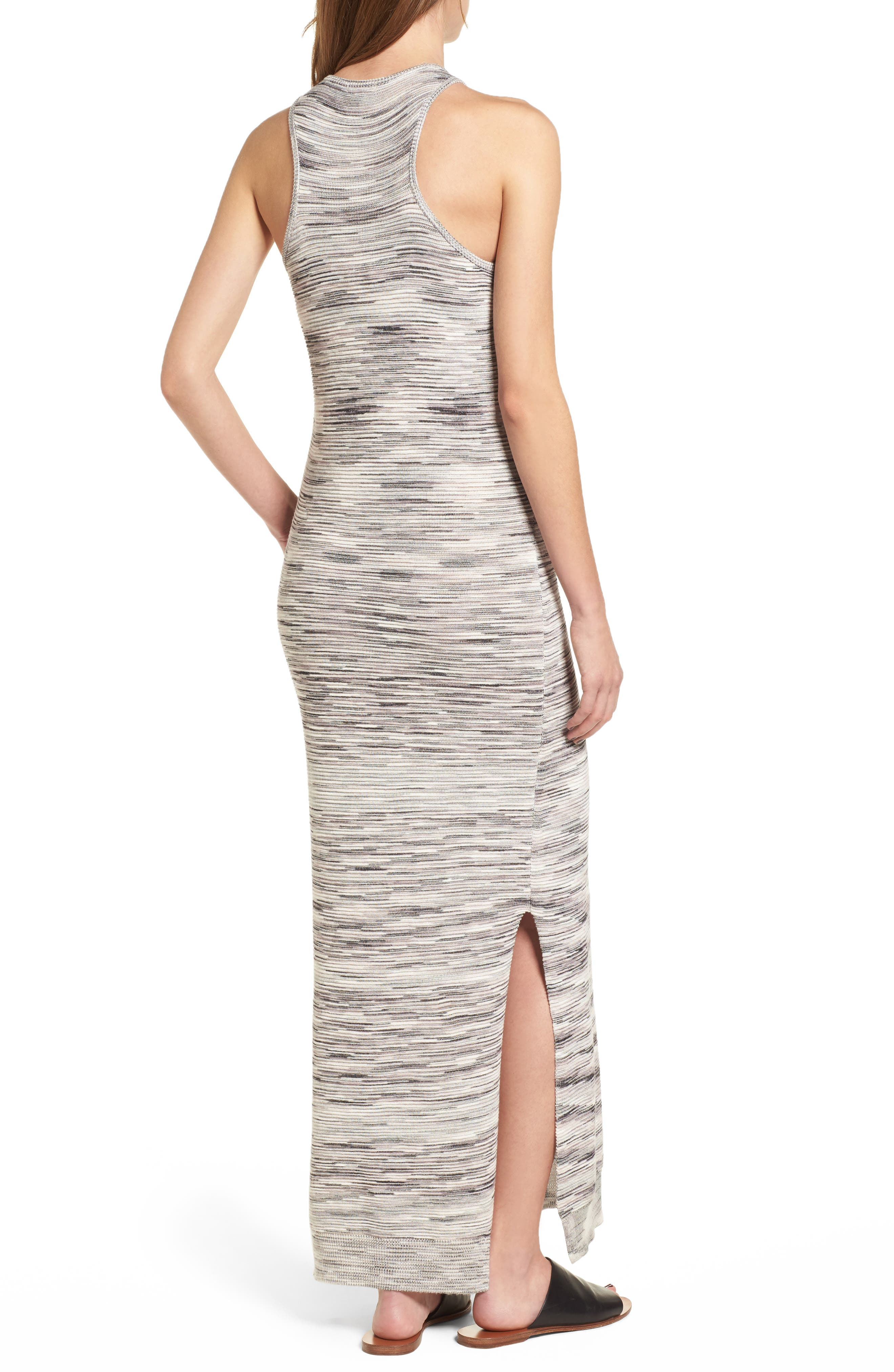 Space Dye Knit Maxi Dress,                             Alternate thumbnail 3, color,                             Natural Multi