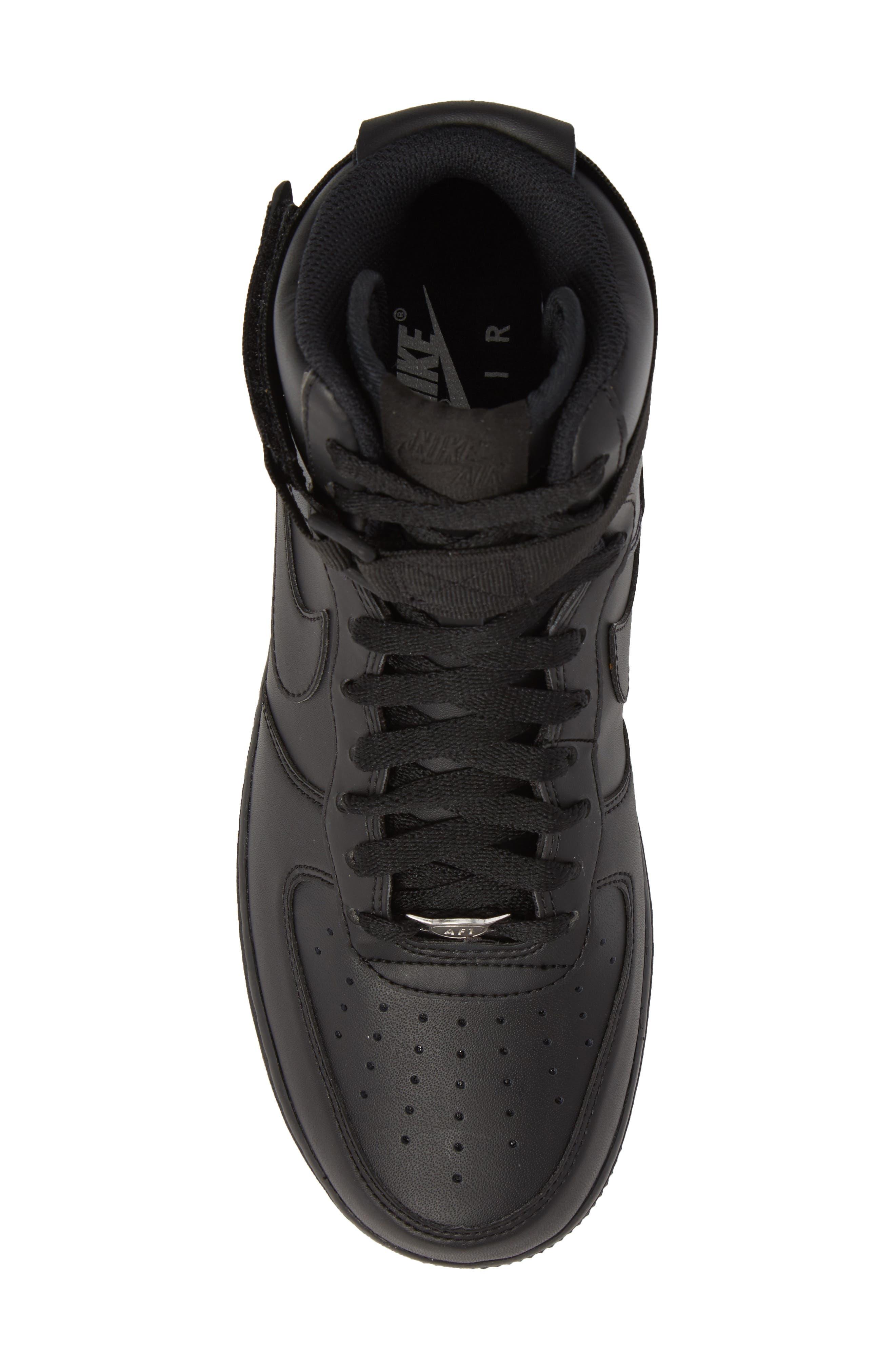 Air Force 1 High '07 Sneaker,                             Alternate thumbnail 5, color,                             Black/ Black