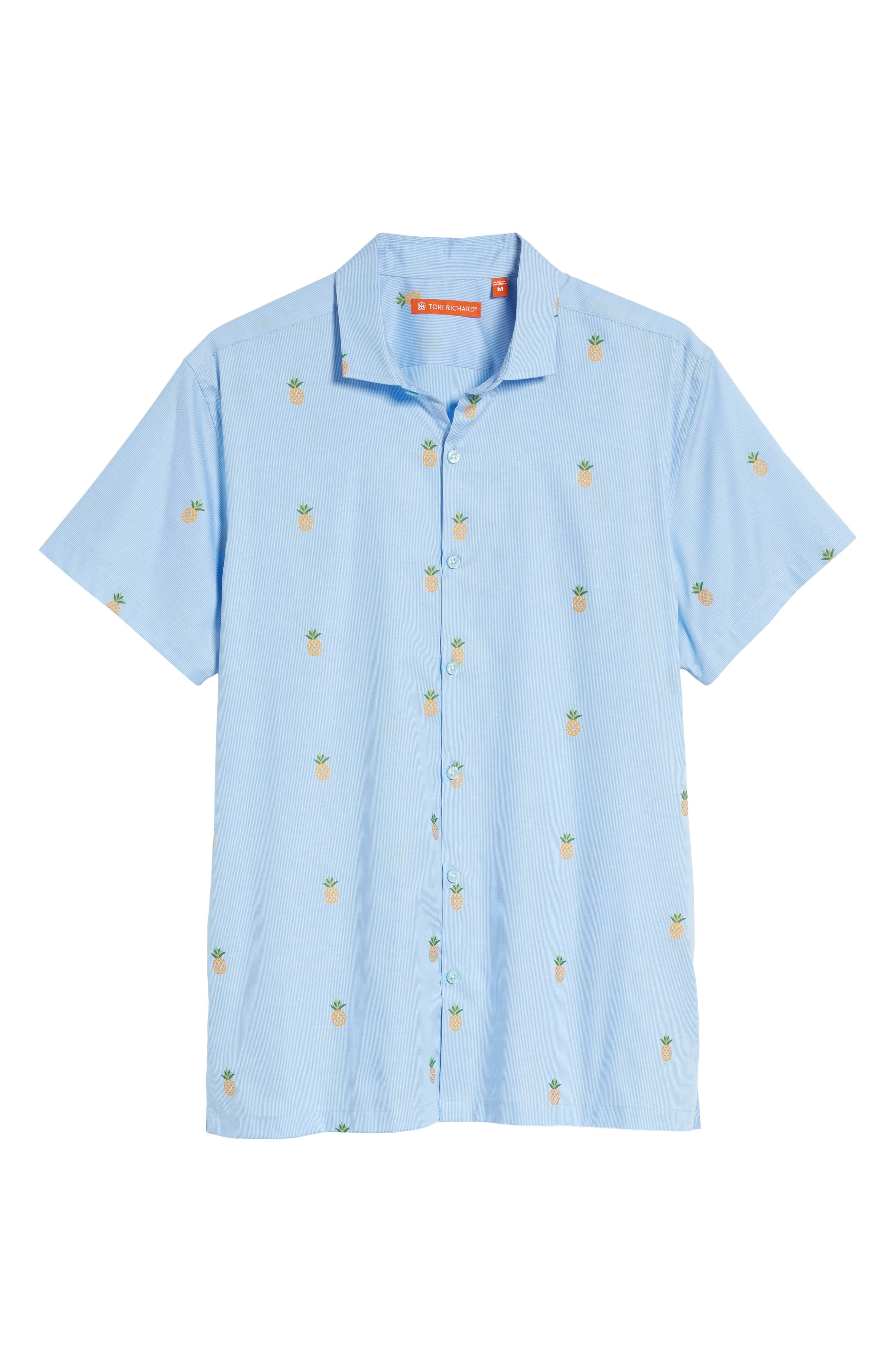 Dole 'N' Row Trim Fit Embroidered Sport Shirt,                             Alternate thumbnail 6, color,                             Blue