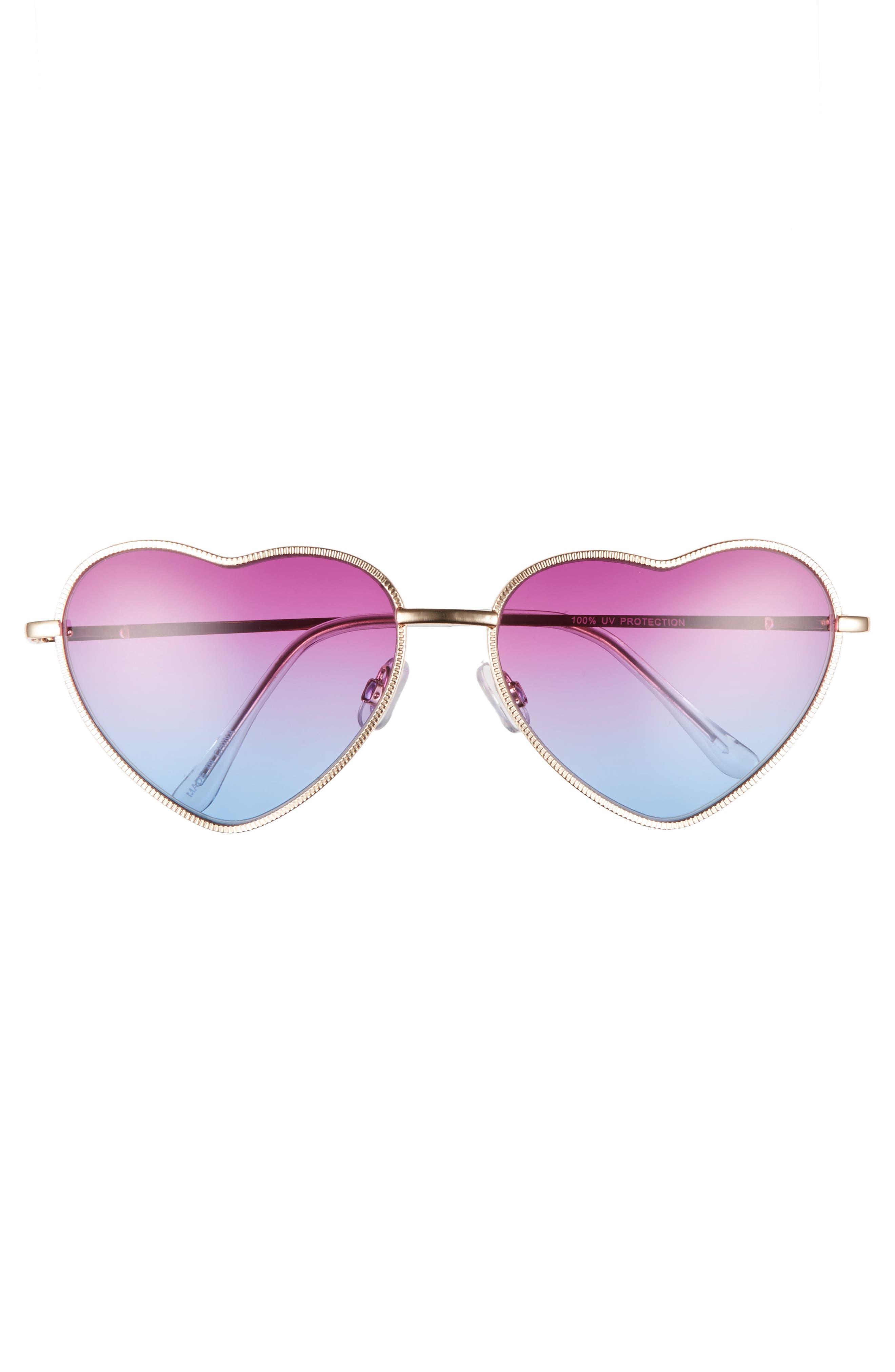 Alternate Image 3  - BP. Heart Shaped 58mm Sunglasses