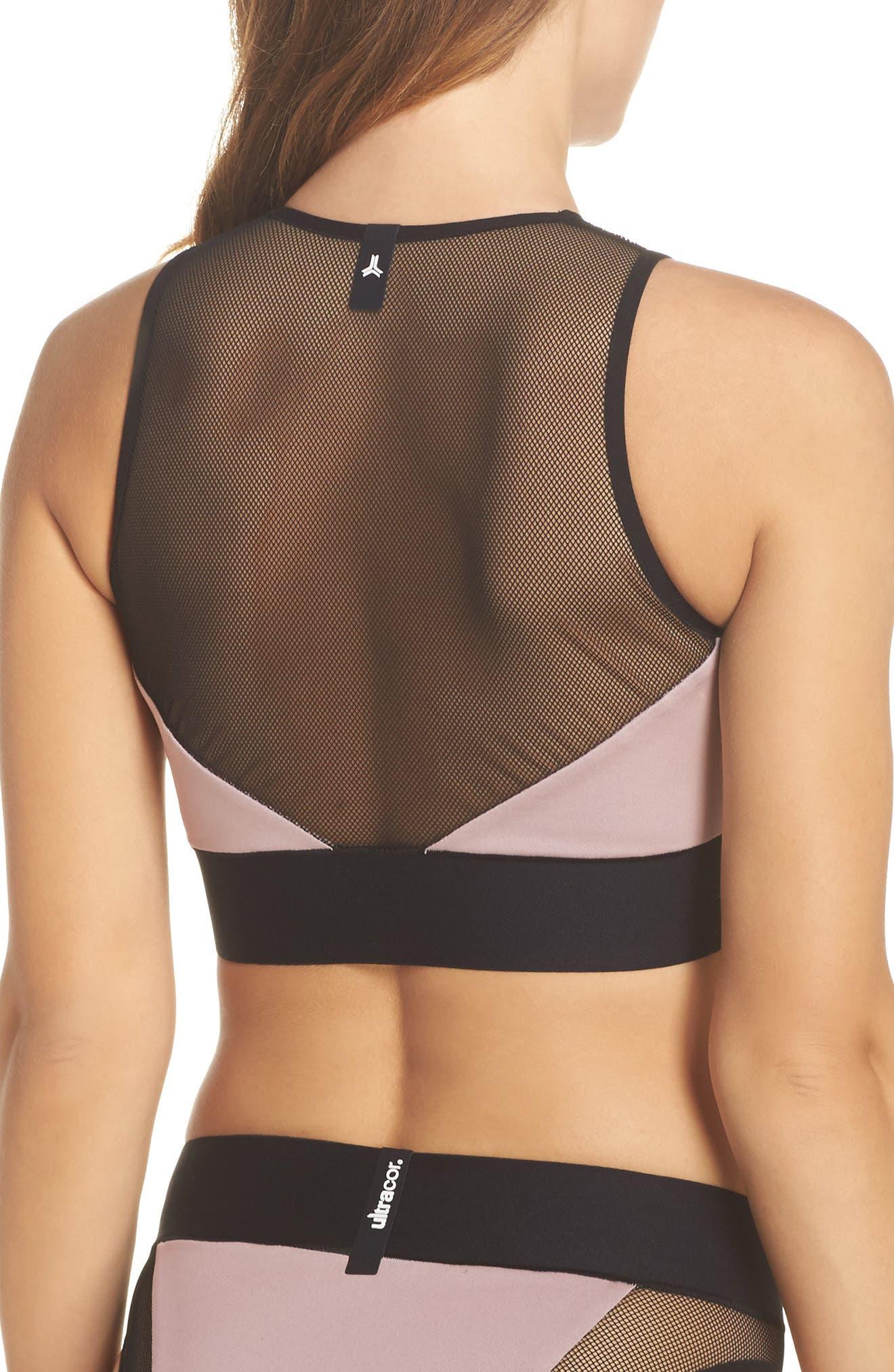 Adrift Sport Mesh Bikini Top,                             Alternate thumbnail 2, color,                             Blush Pink