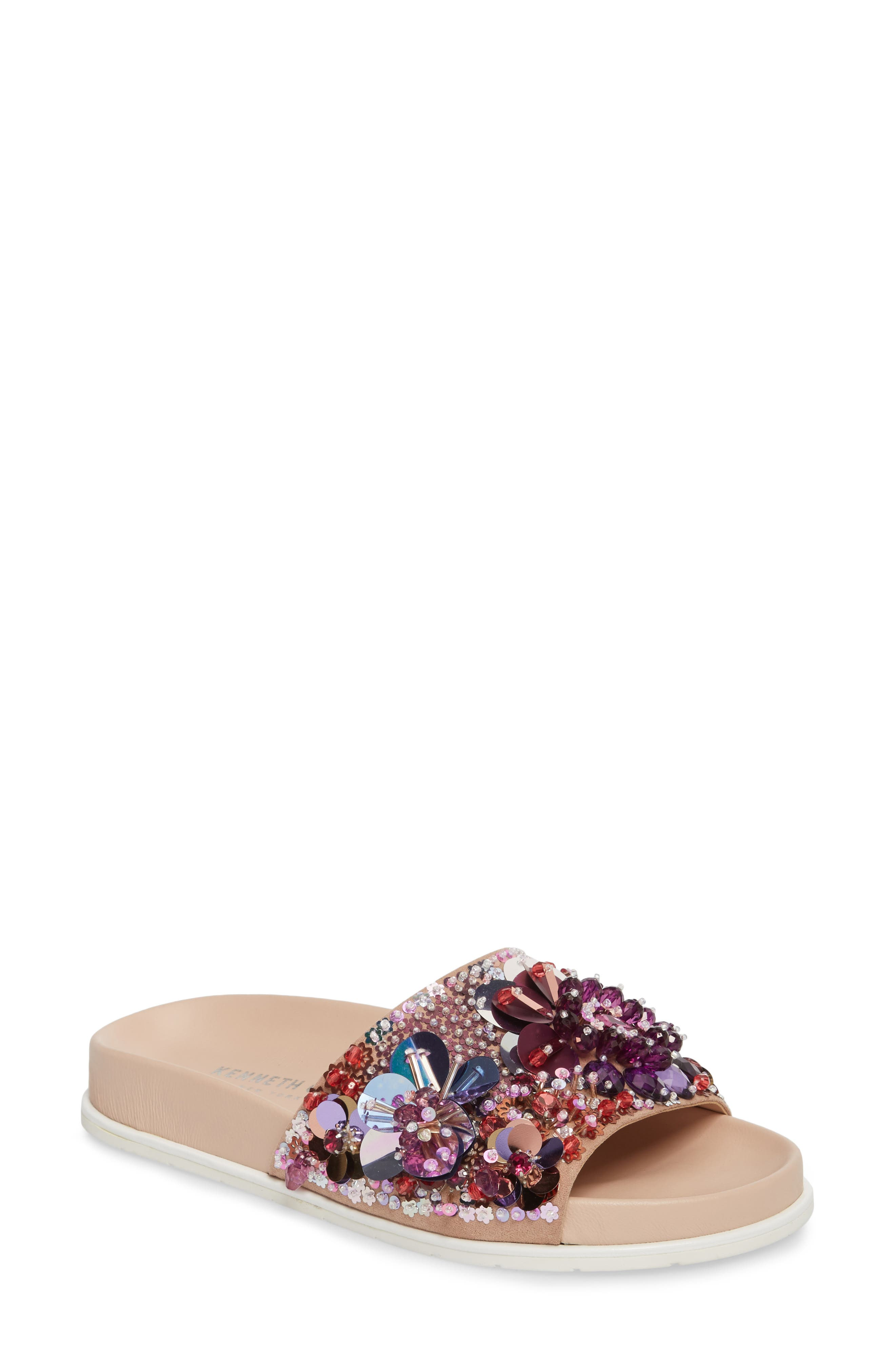 Alternate Image 1 Selected - Kenneth Cole New York Xenia Sequin Embellished Sandal (Women)