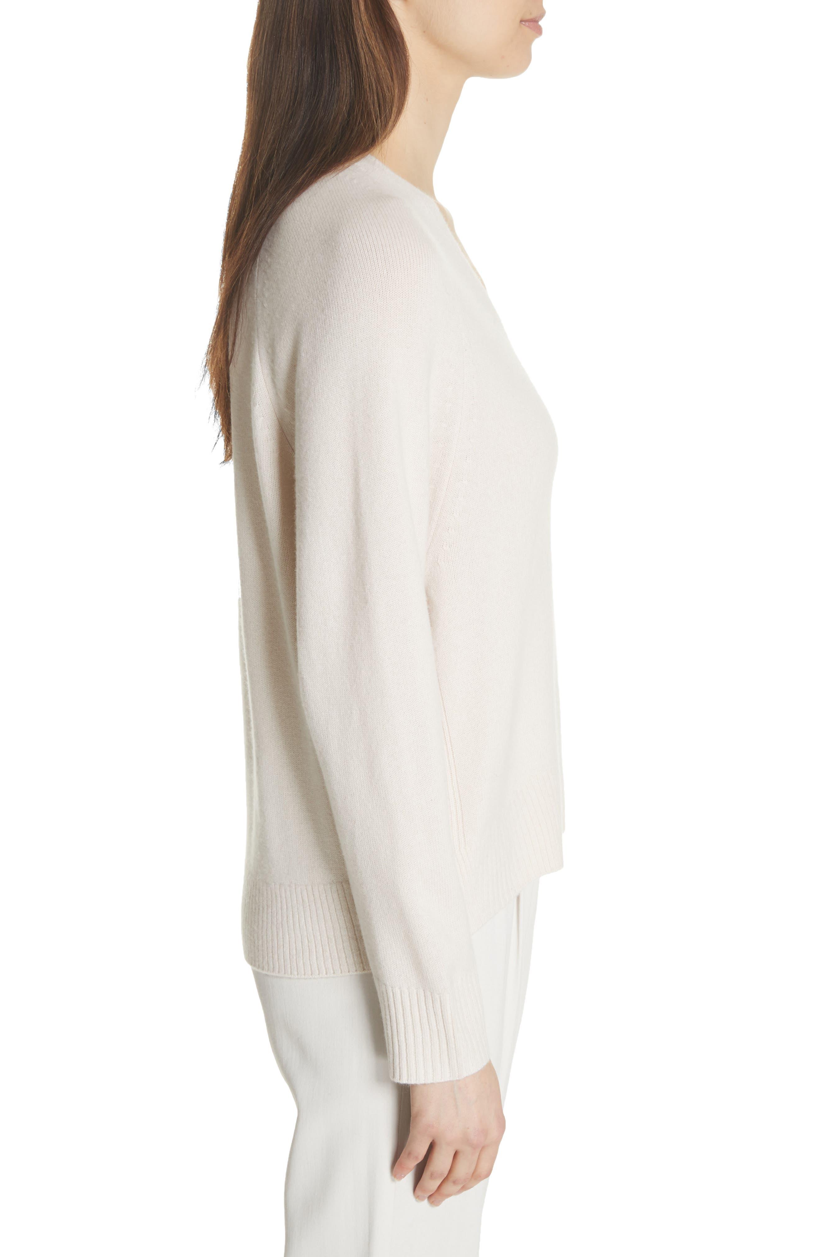 Cashmere Raglan Sleeve Sweater,                             Alternate thumbnail 3, color,                             Sandstone