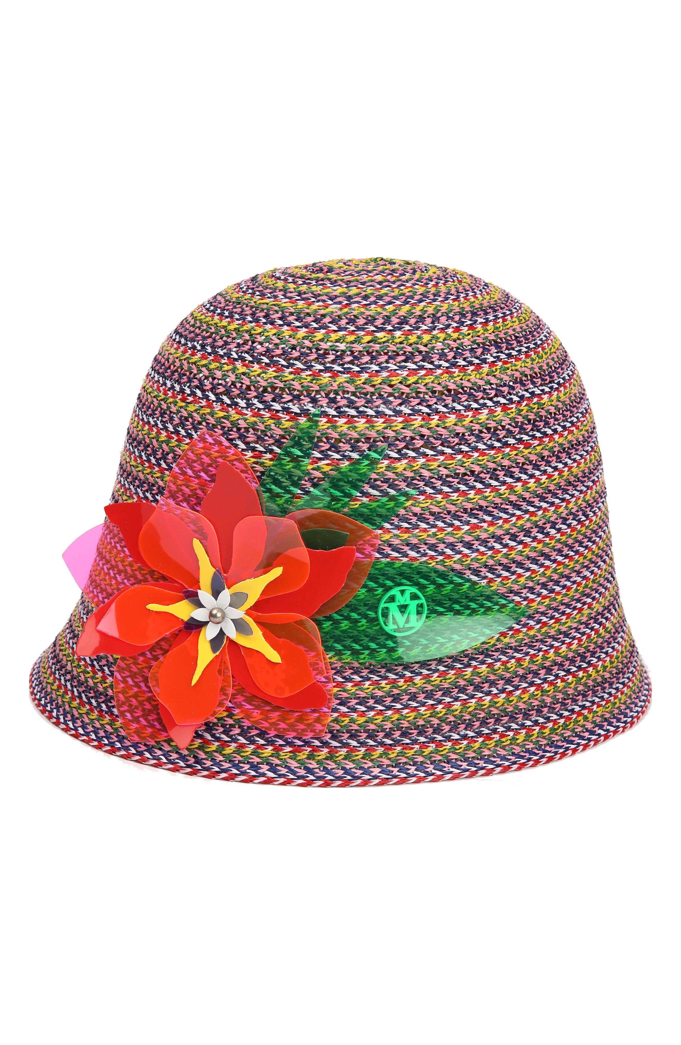 Jin Multicolor Straw Hat,                         Main,                         color, Multi