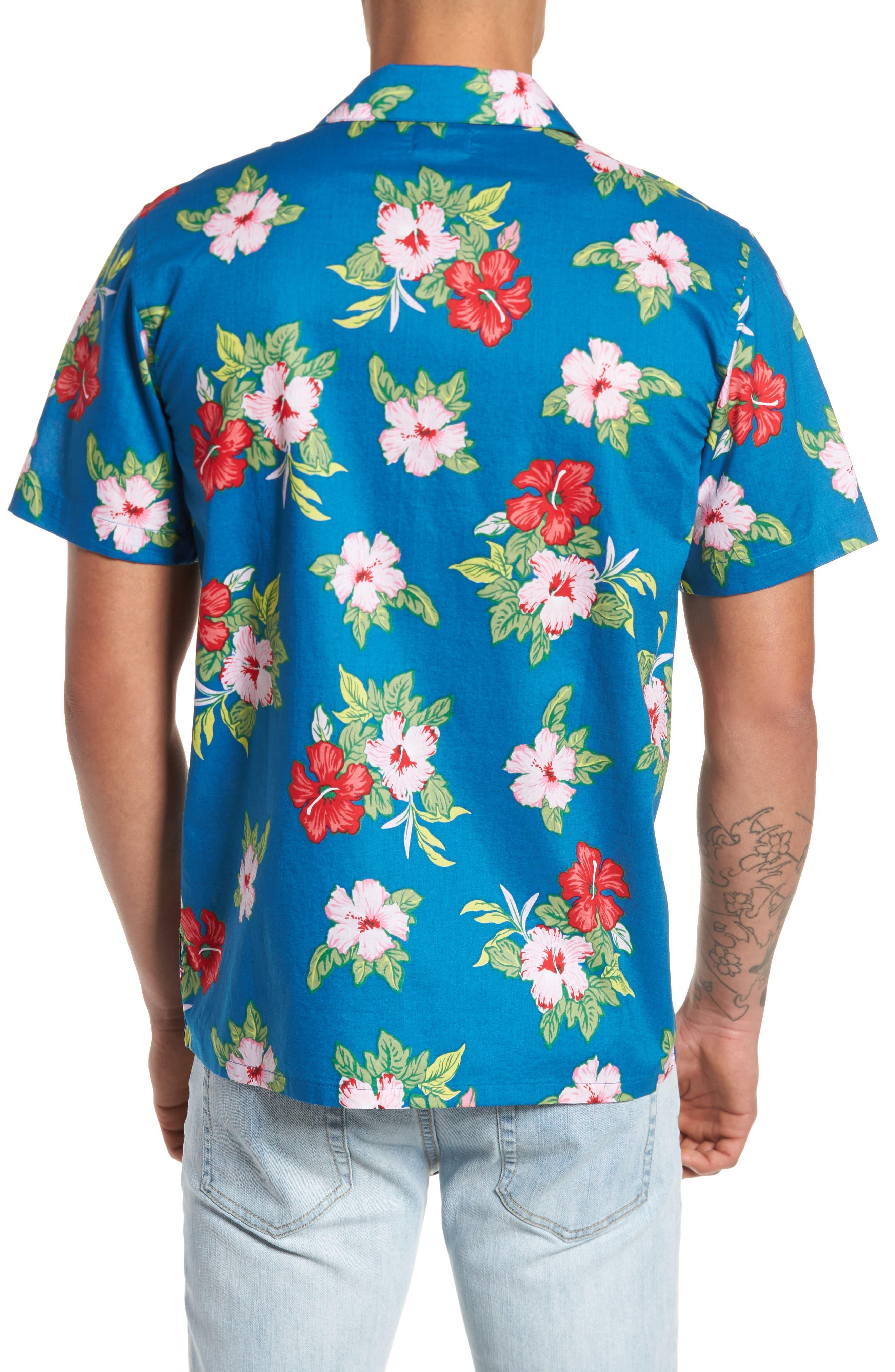 Kane Woven Shirt,                             Alternate thumbnail 2, color,                             Navy Multi