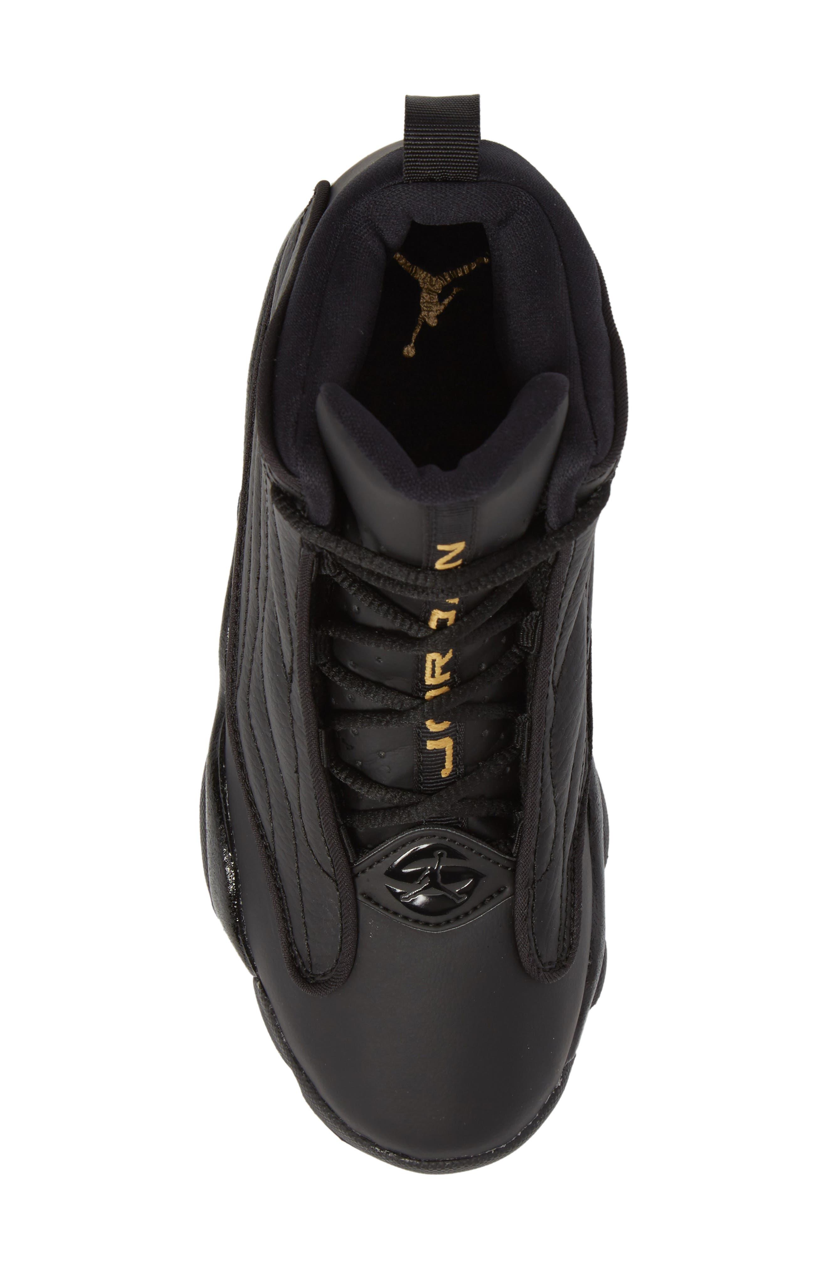 Pro Strong BP High Top Sneaker,                             Alternate thumbnail 5, color,                             Black/ Black
